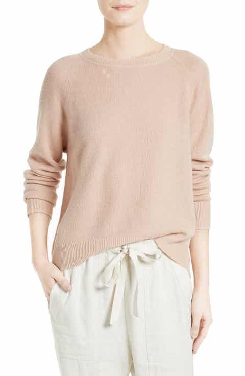 Vince Boxy Cashmere   Linen Pullover