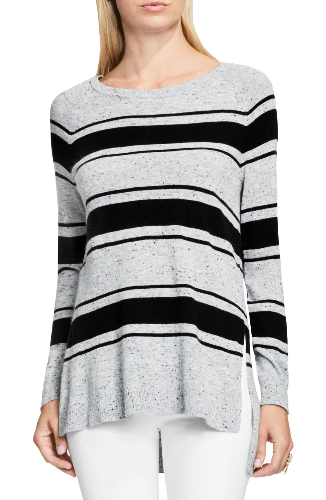 Alternate Image 1 Selected - Vince Camuto Stripe Speckled Sweater
