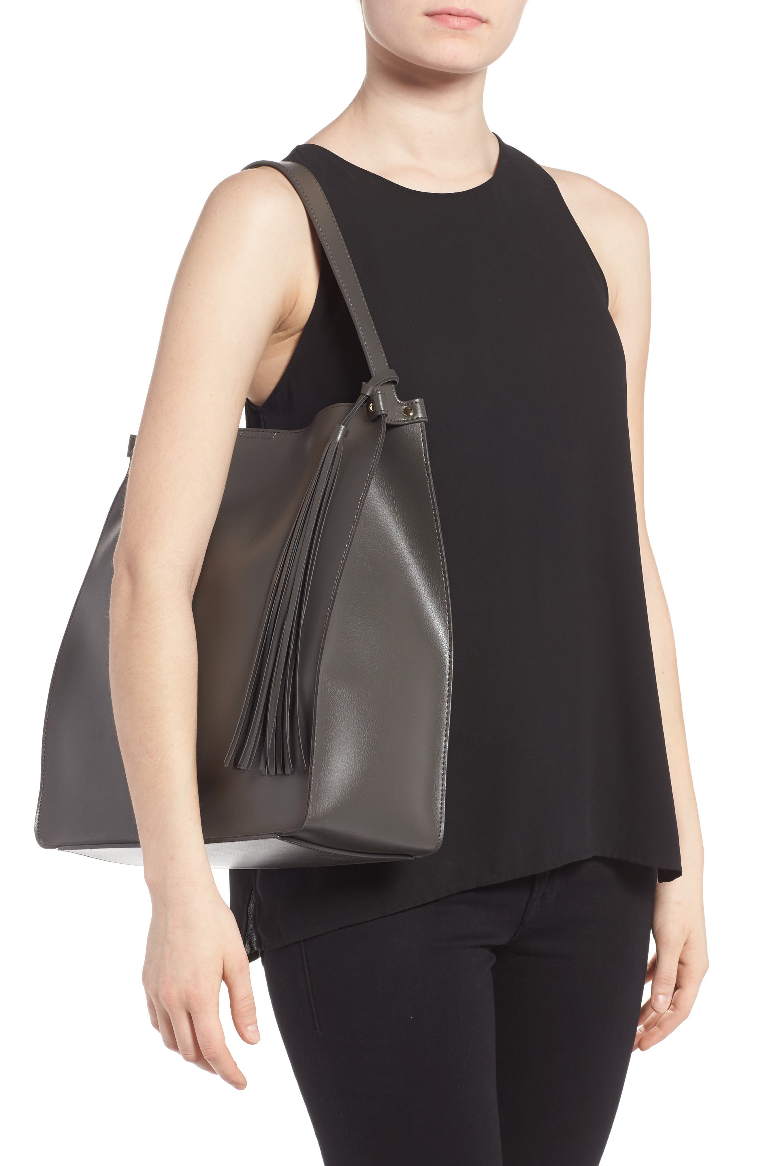 Alternate Image 2  - Sole Society Karlie Faux Leather Bucket Bag