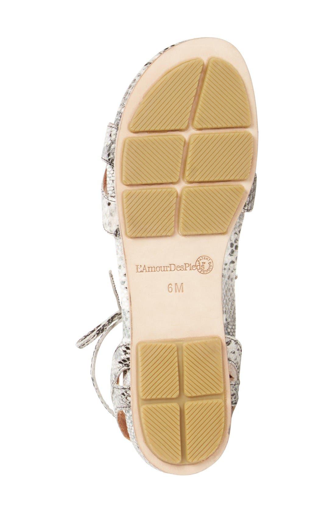 Alternate Image 4  - L'Amour des Pieds Darrylynn Wraparound Lace-Up Sandal (Women)