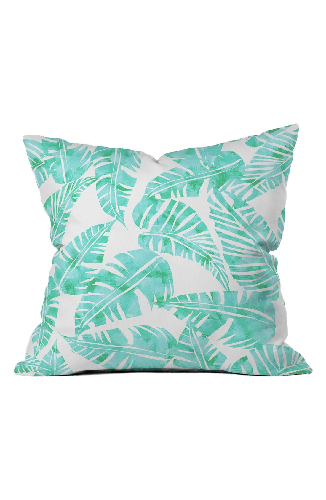 Alternate Image 1 Selected - DENY Designs Lani Kai Leaf Pillow