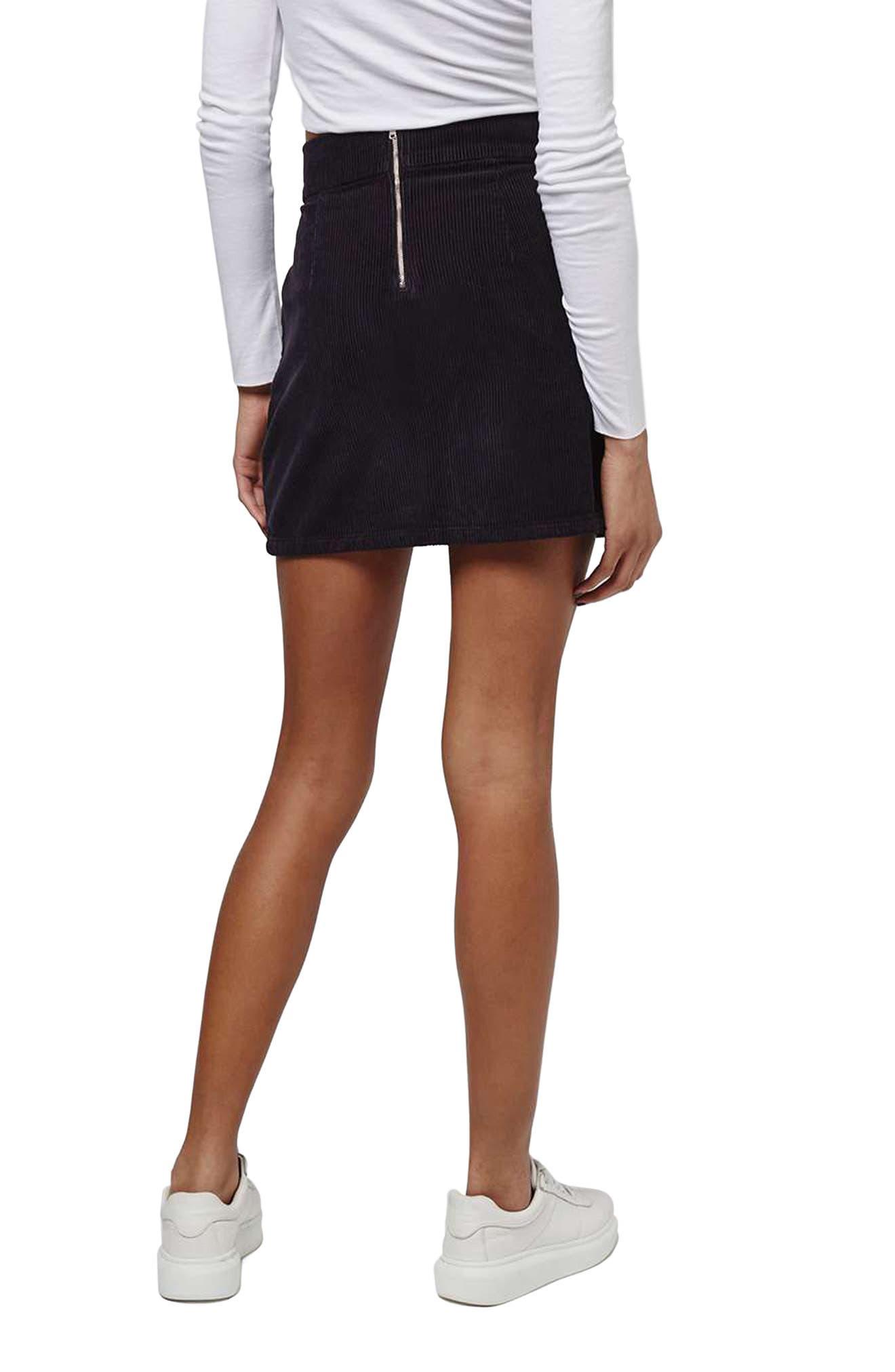 Alternate Image 3  - Topshop Corduroy Miniskirt
