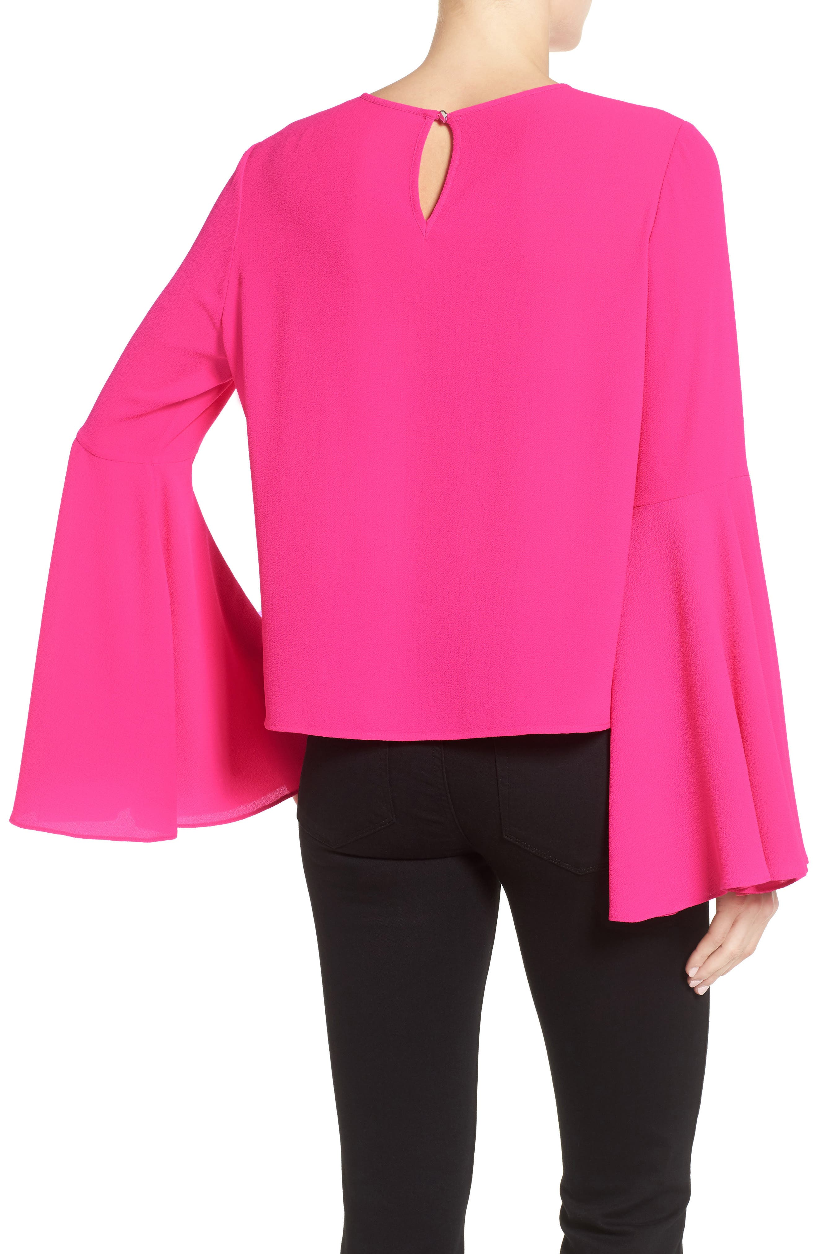 Alternate Image 2  - Vince Camuto Bell Sleeve Blouse