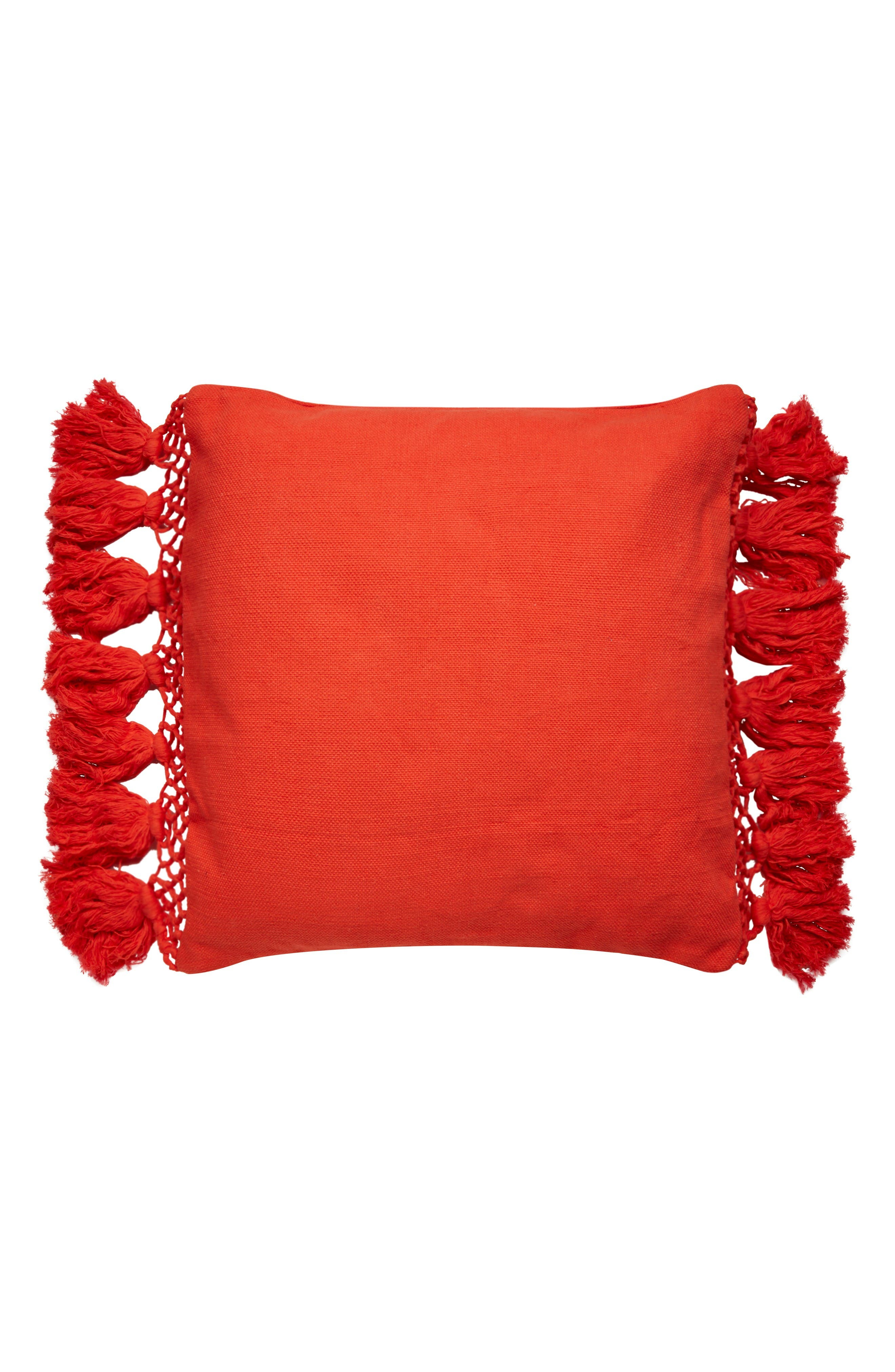 KATE SPADE NEW YORK tassel accent pillow