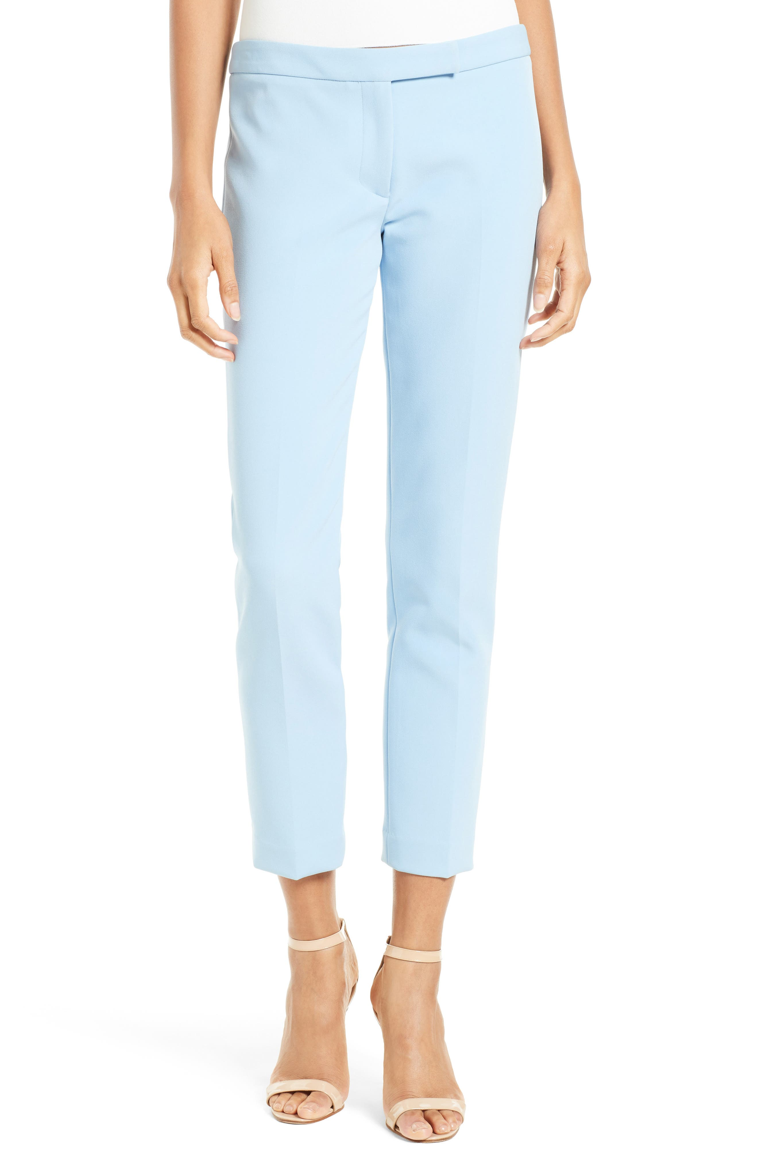 Main Image - Milly Stretch Crepe Cigarette Pant