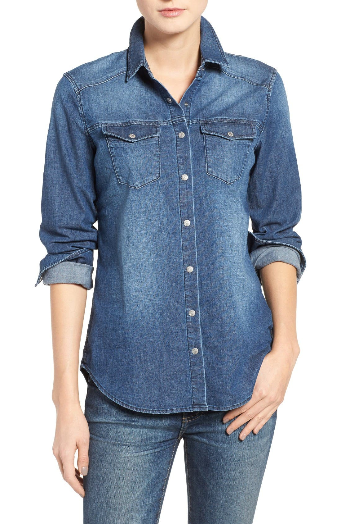 True Religion Brand Jeans Georgia Denim Shirt