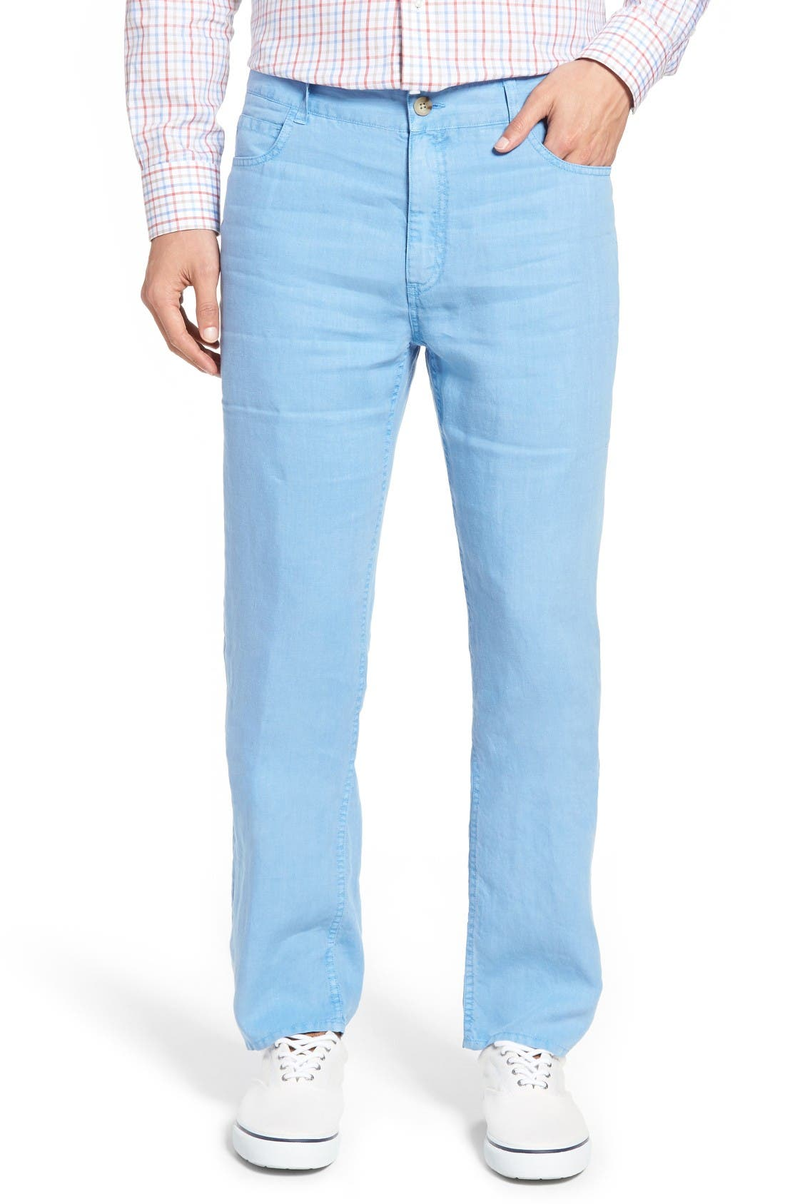 Peter Millar Lookout Straight Leg Linen Pants