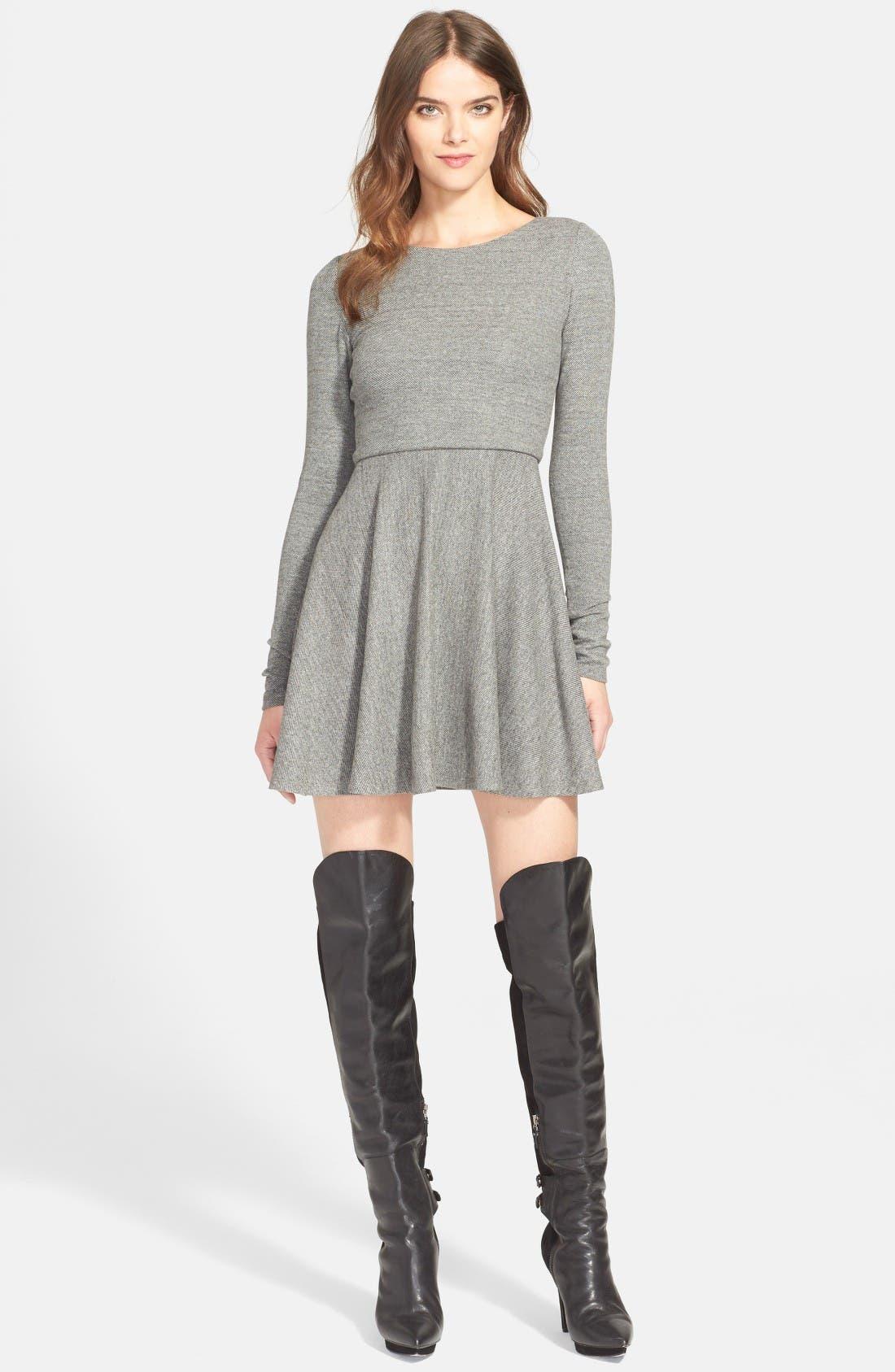 Alternate Image 6  - Alice + Olivia 'Brinley' Long Sleeve Mini Dress
