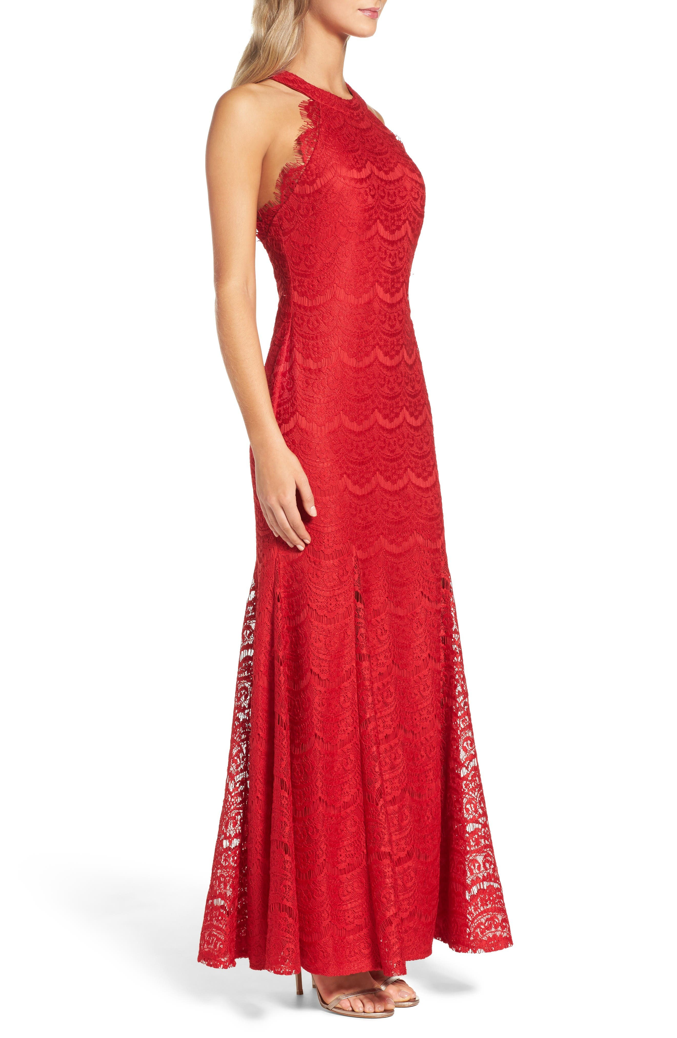 Alternate Image 3  - Morgan & Co. Open Back Gown