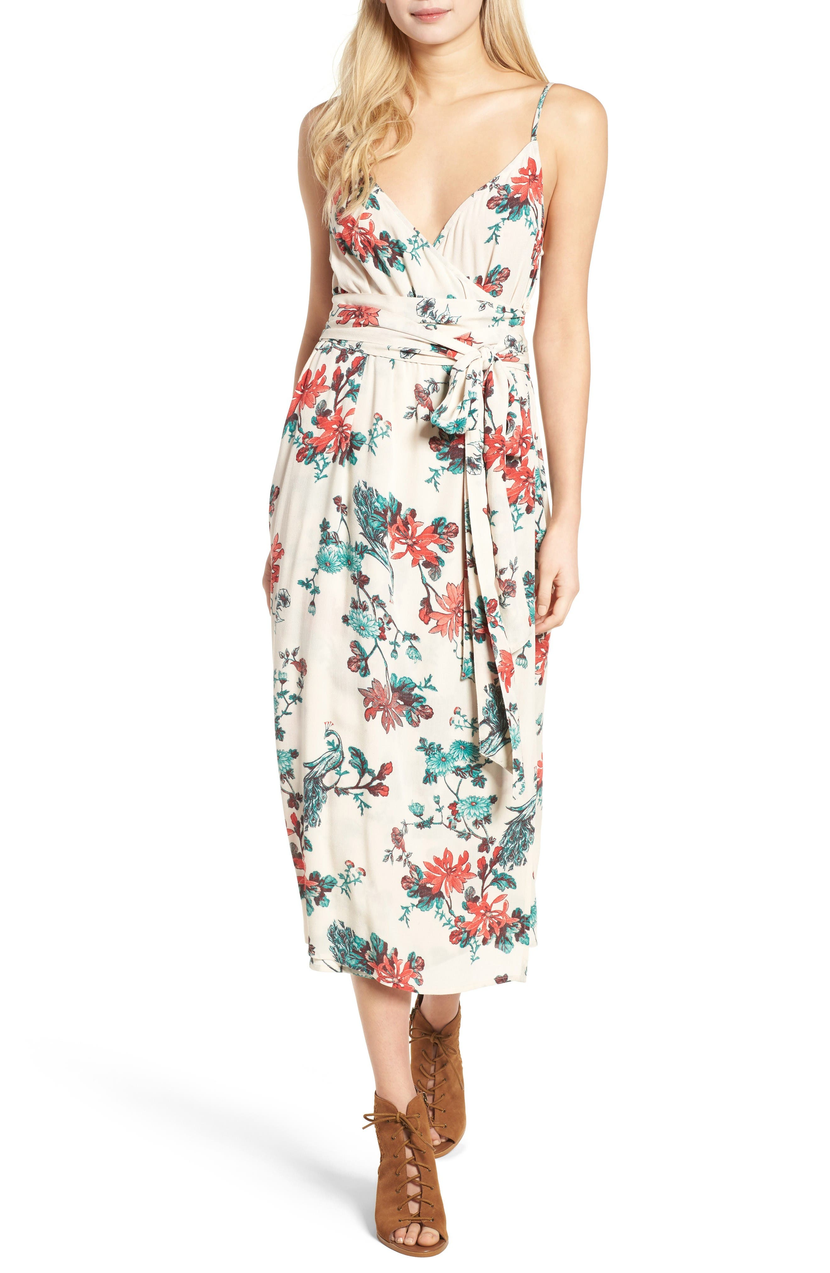 Hinge Midi Wrap Dress
