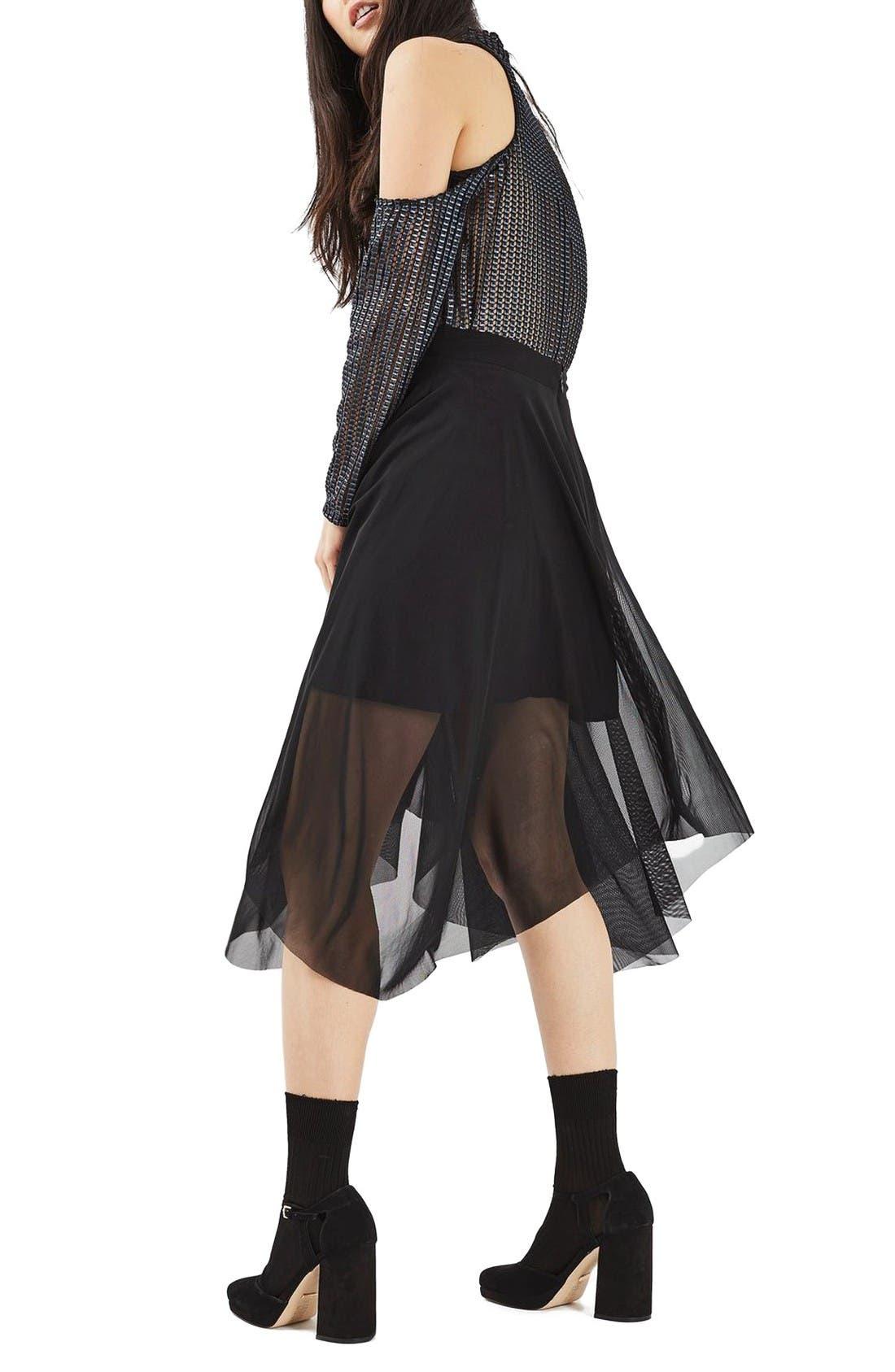 Alternate Image 3  - Topshop Tulle Midi Skirt