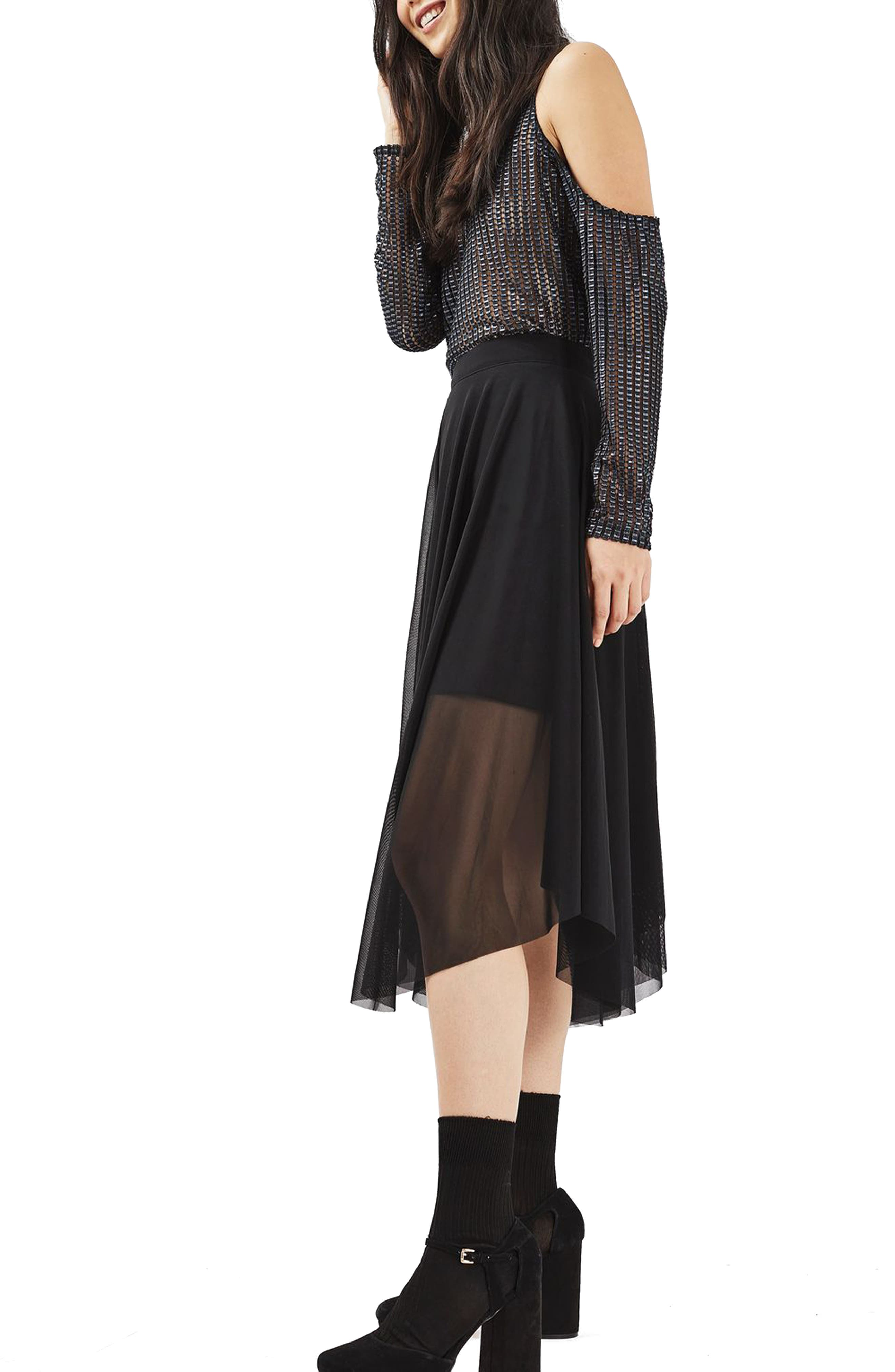 Alternate Image 4  - Topshop Tulle Midi Skirt