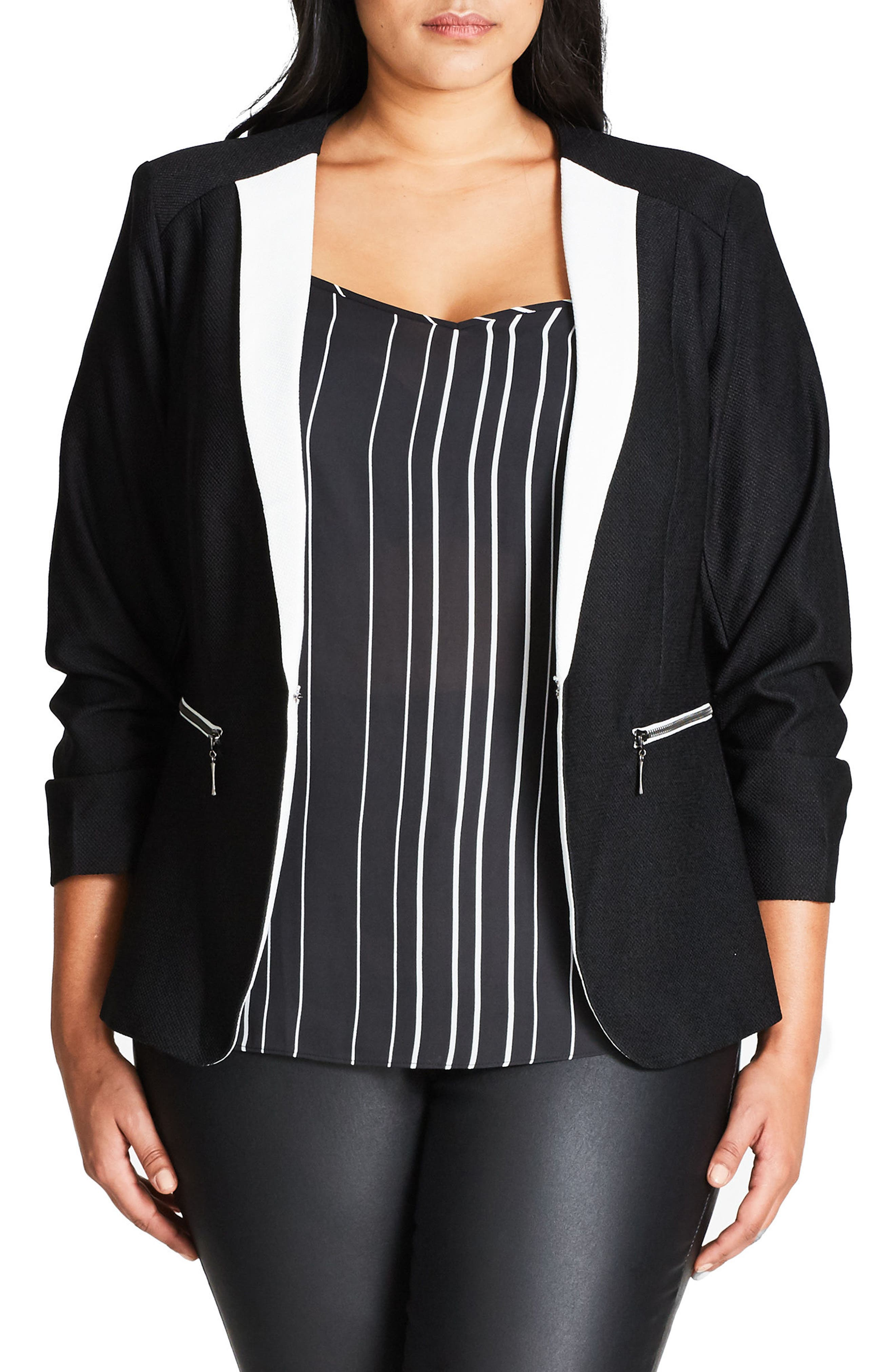 City Chic So Chic Jacket (Plus Size)