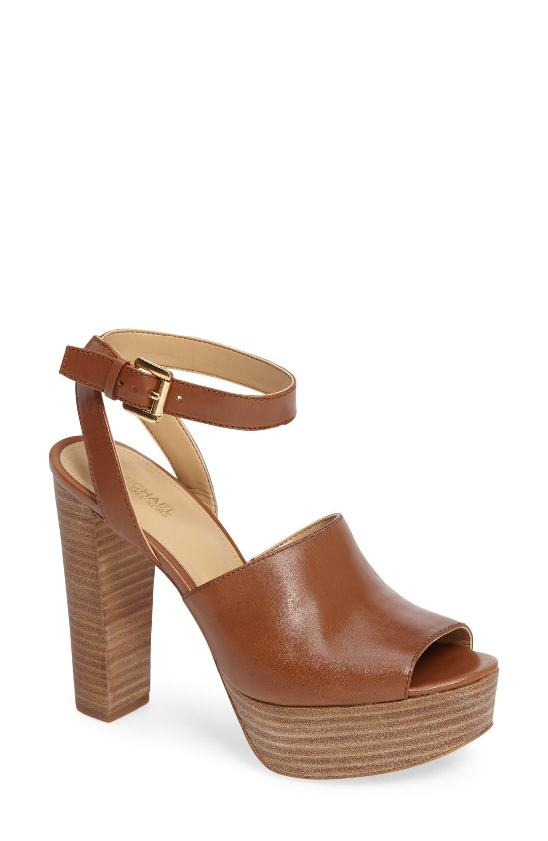 Alternate Image 1 Selected - MICHAEL Michael Kors Trina Platform Sandal (Women)