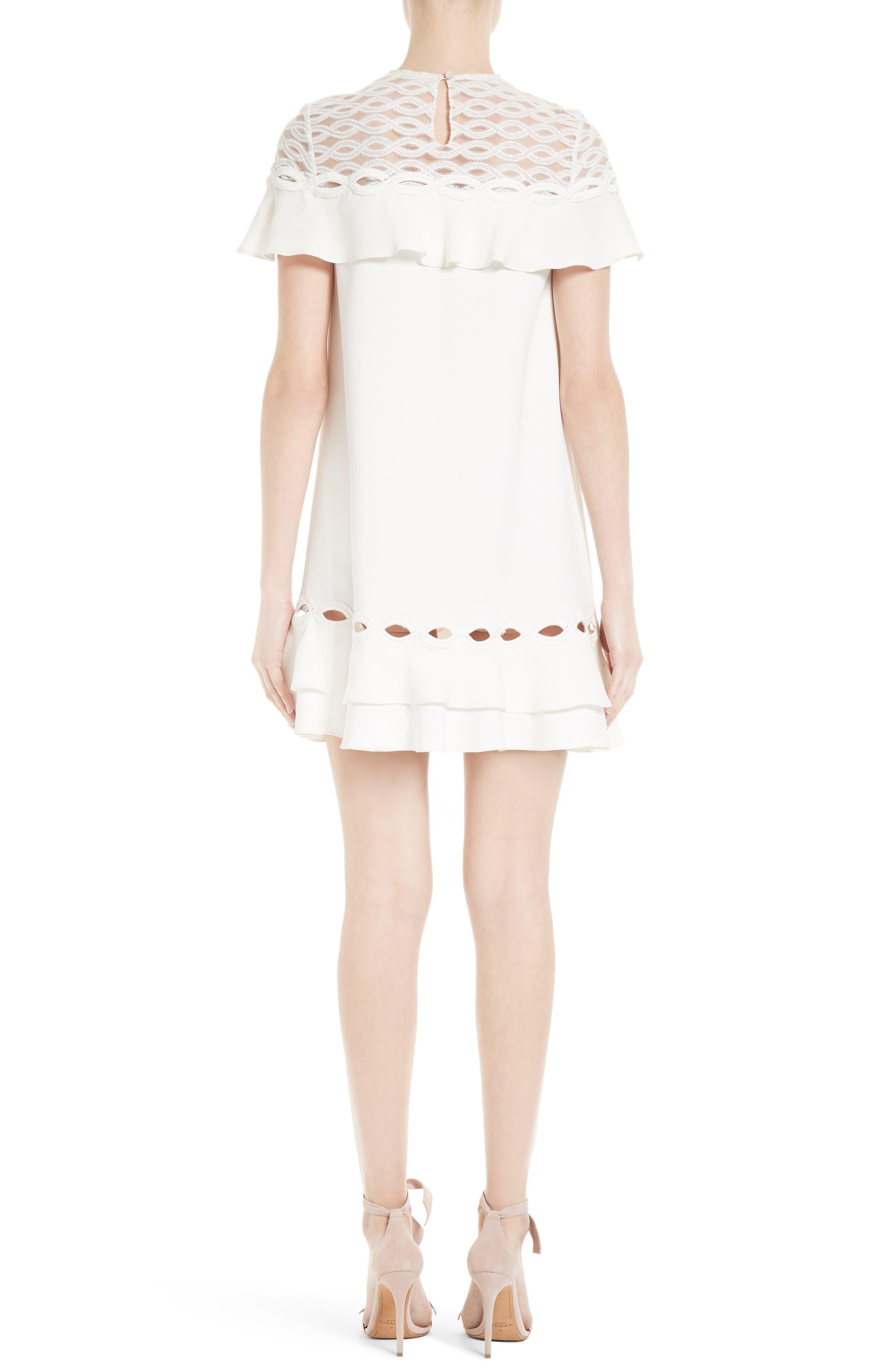 Alternate Image 2  - Jonathan Simkhai Rope Appliqué Ruffle Dress
