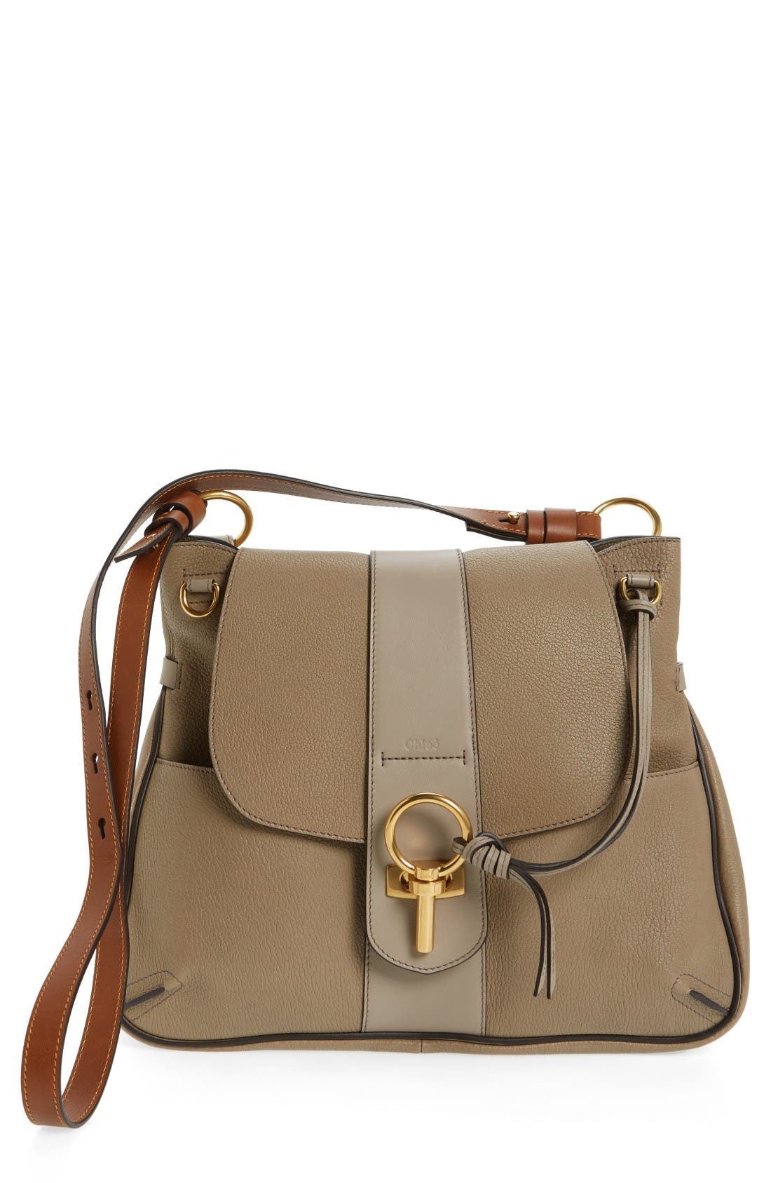 Main Image - Chloé Medium Lexa Leather Shoulder Bag