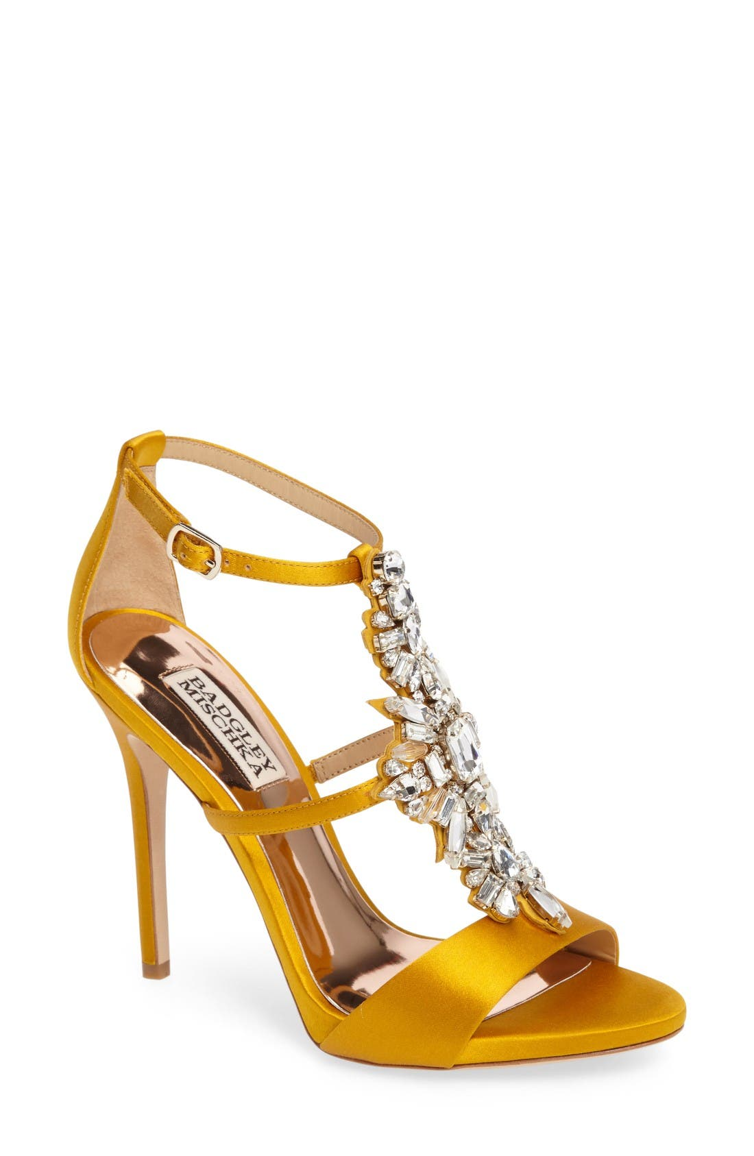 Alternate Image 1 Selected - Badgley Mischka Basile Crystal Embellished Sandal (Women)