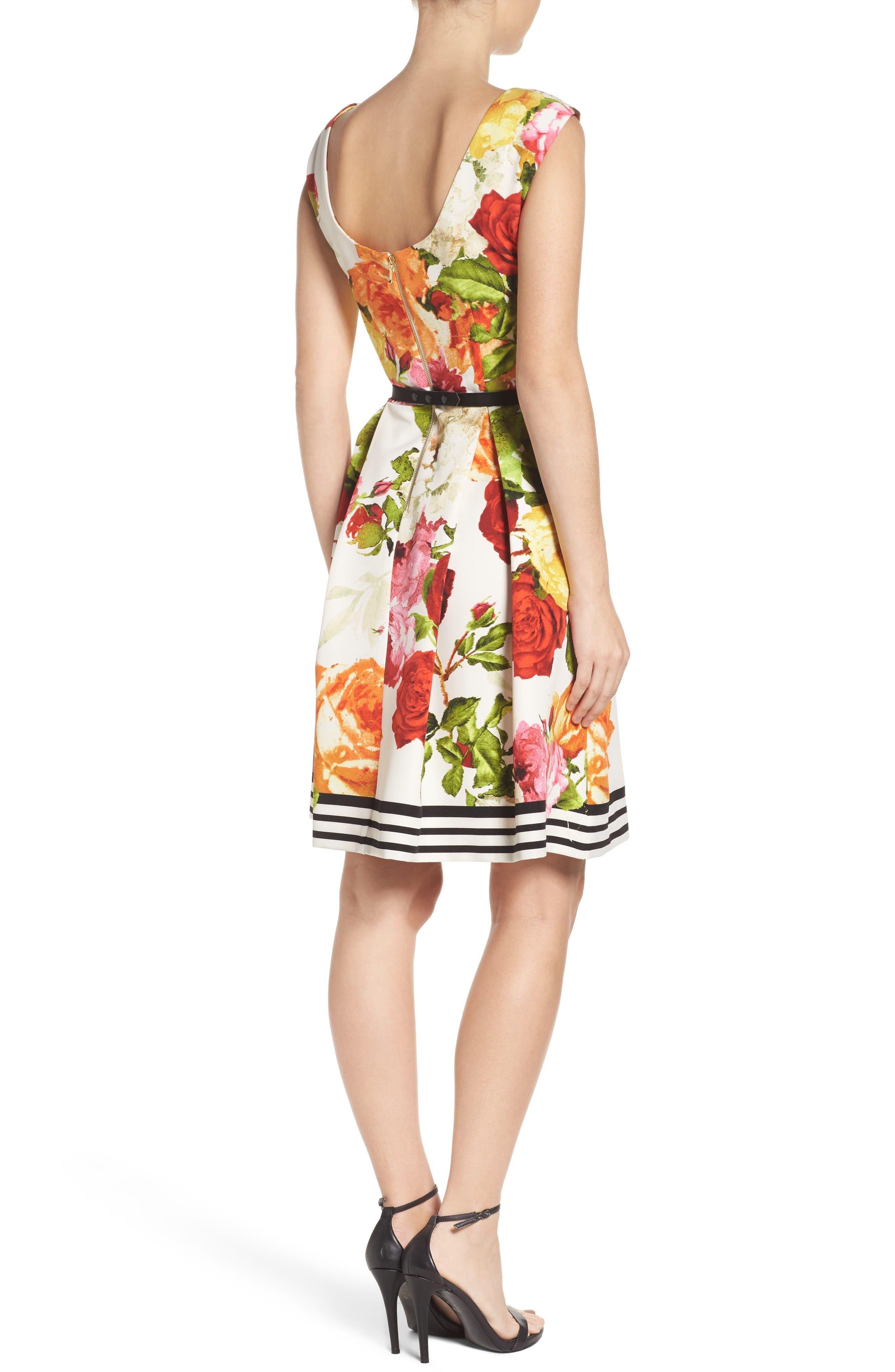 Alternate Image 2  - Gabby Skye Floral Fit & Flare Dress