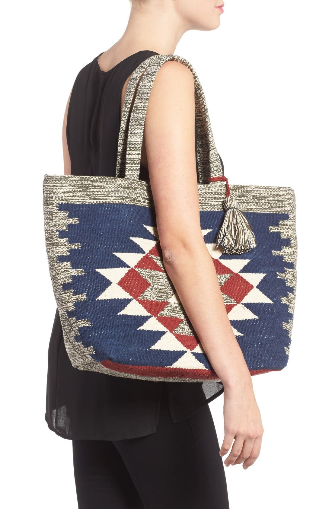 Alternate Image 2  - Sole Society Rees Woven Geometric Tote