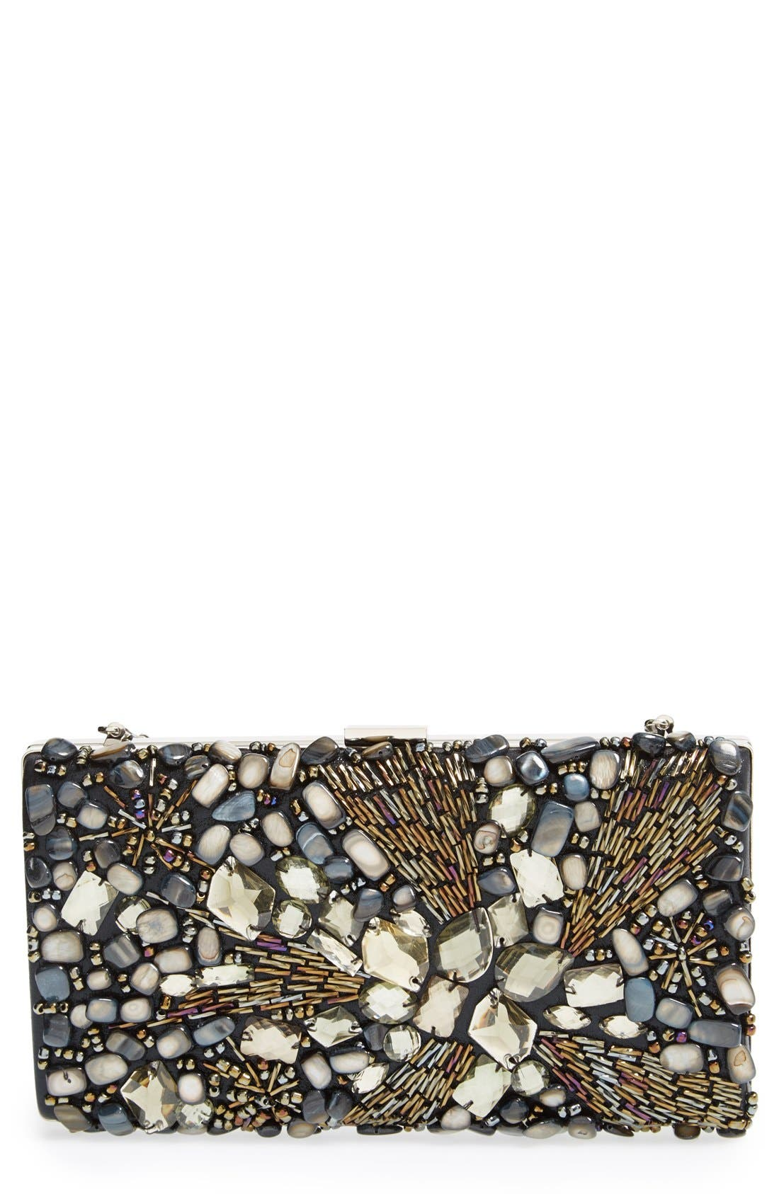 Alternate Image 1 Selected - Natasha Couture Beaded Crystal Clutch