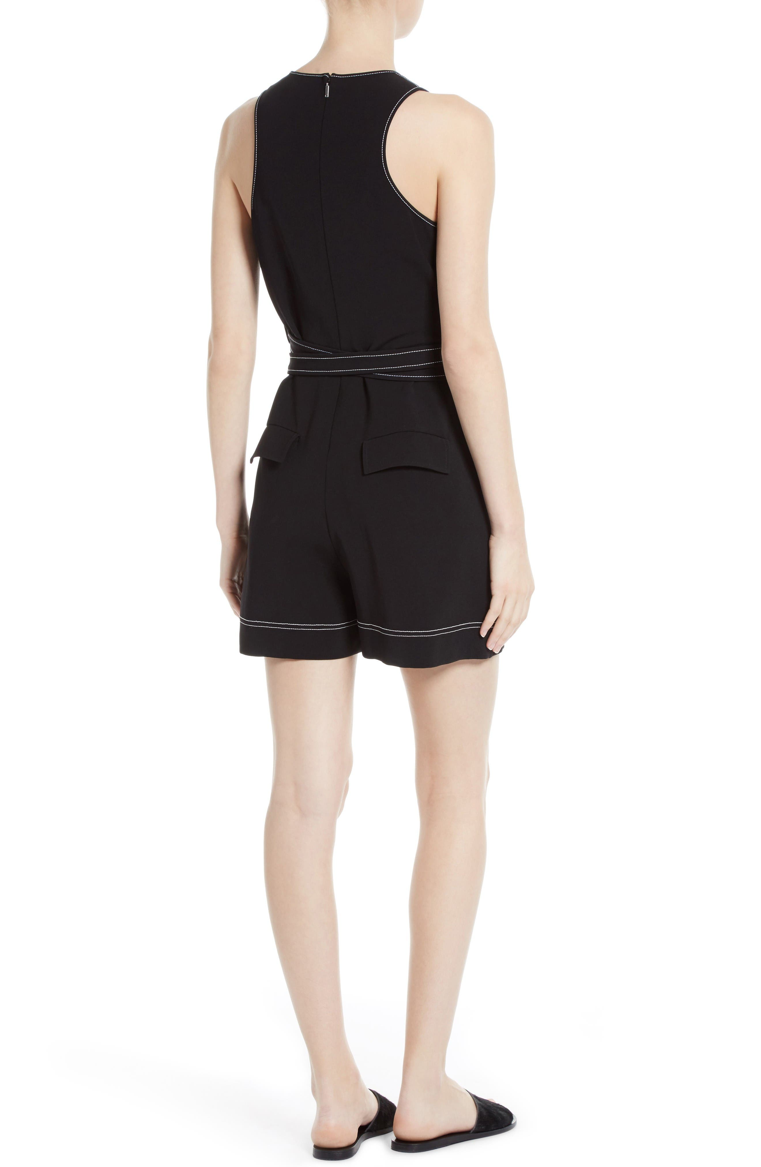 Alternate Image 2  - GREY Jason Wu Topstitched Double Tie Romper