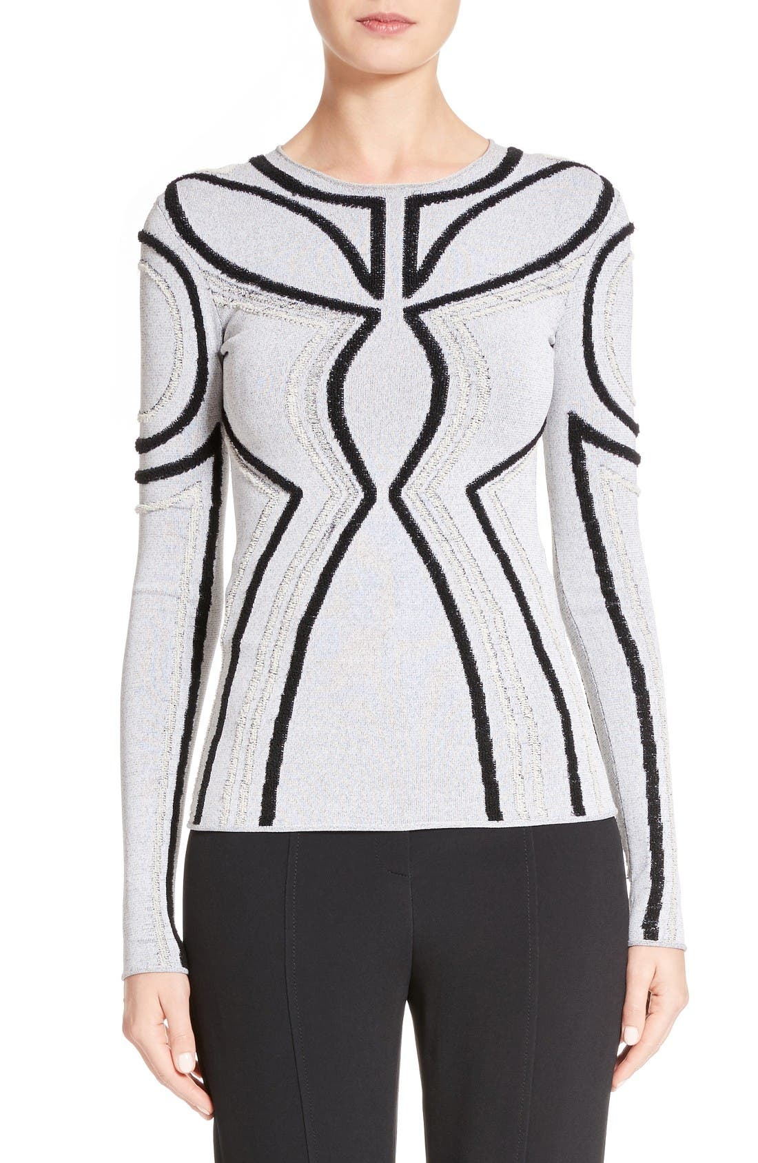 PROENZA SCHOULER Intarsia Loop Knit Sweater