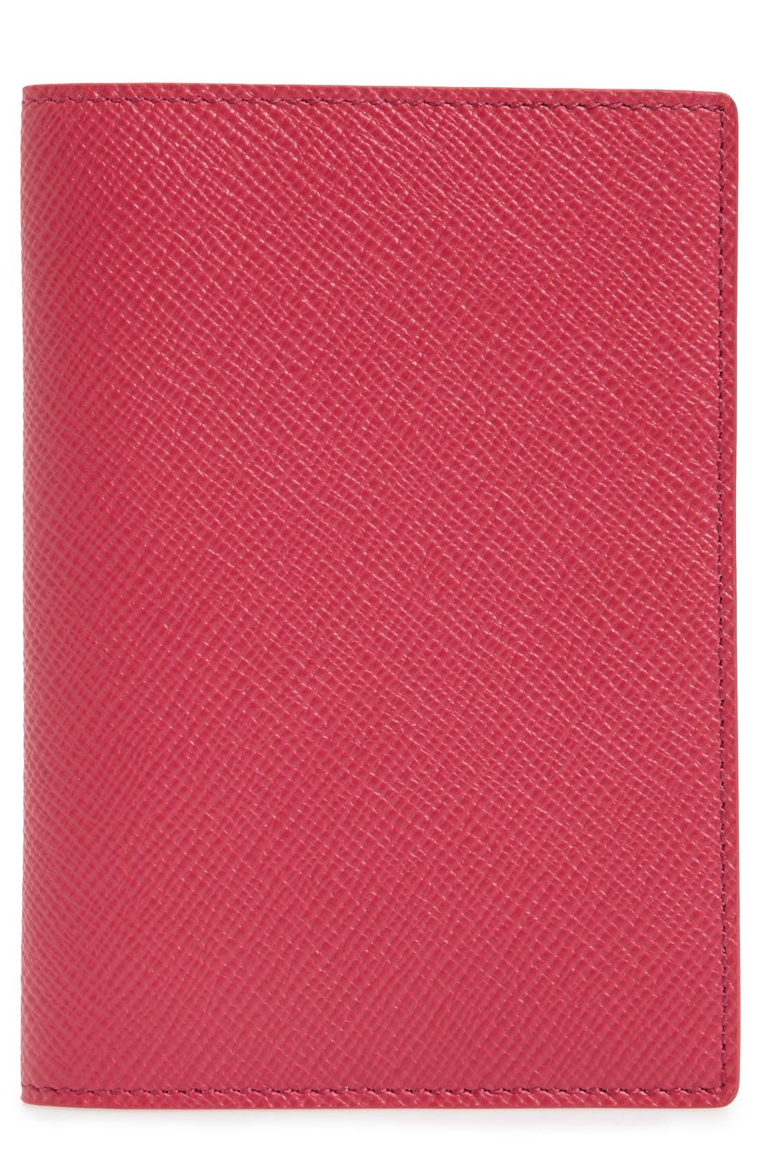 SMYTHSON Panama Calfskin Leather Passport Holder