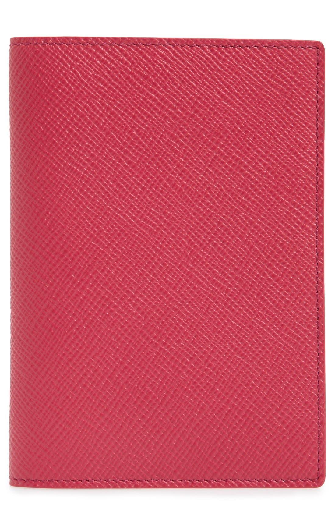 SMYTHSON Panama Calfskin Leather Passport Holder
