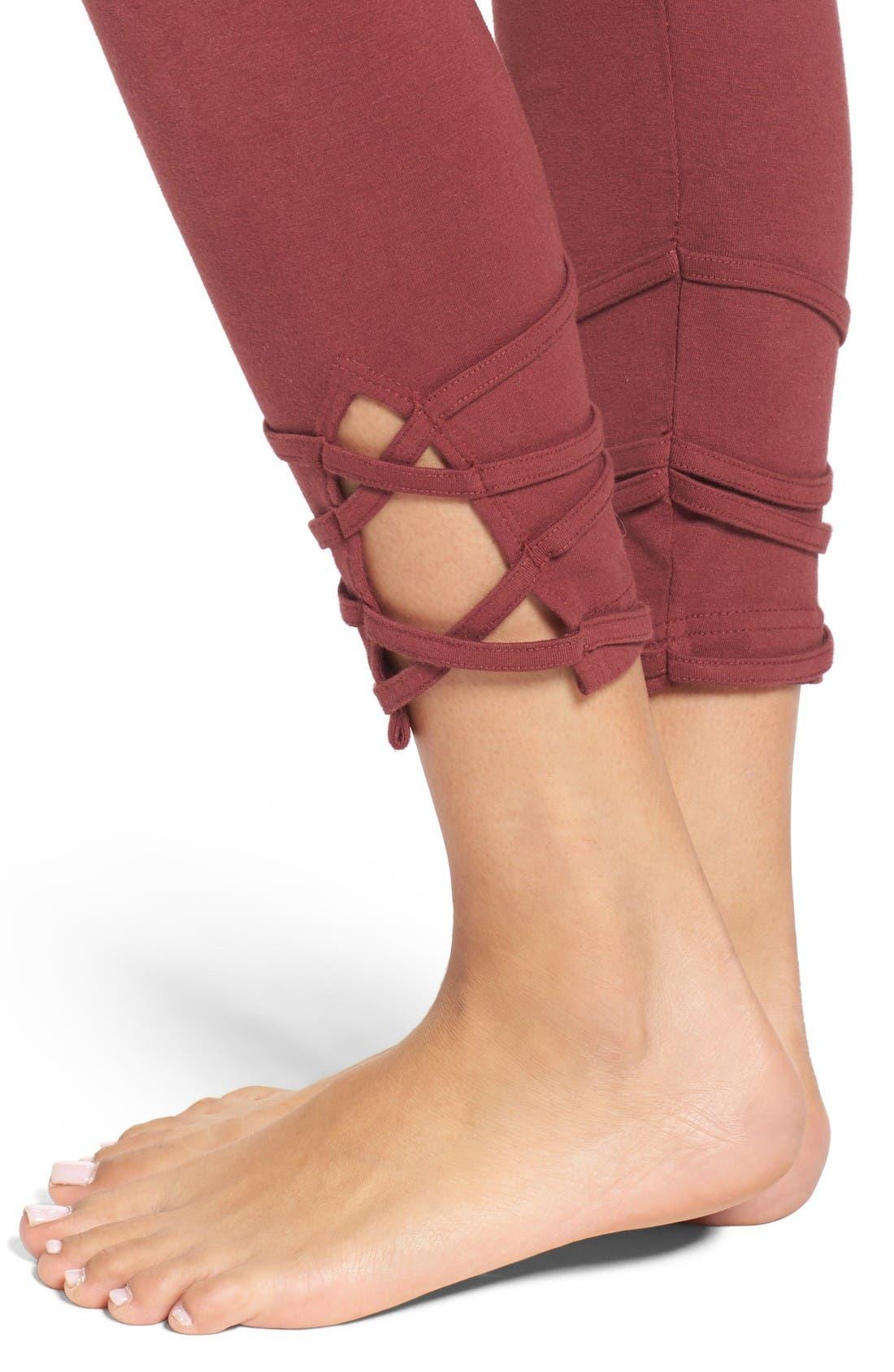 Alternate Image 4  - Hard Tail High Waist Crop Leggings