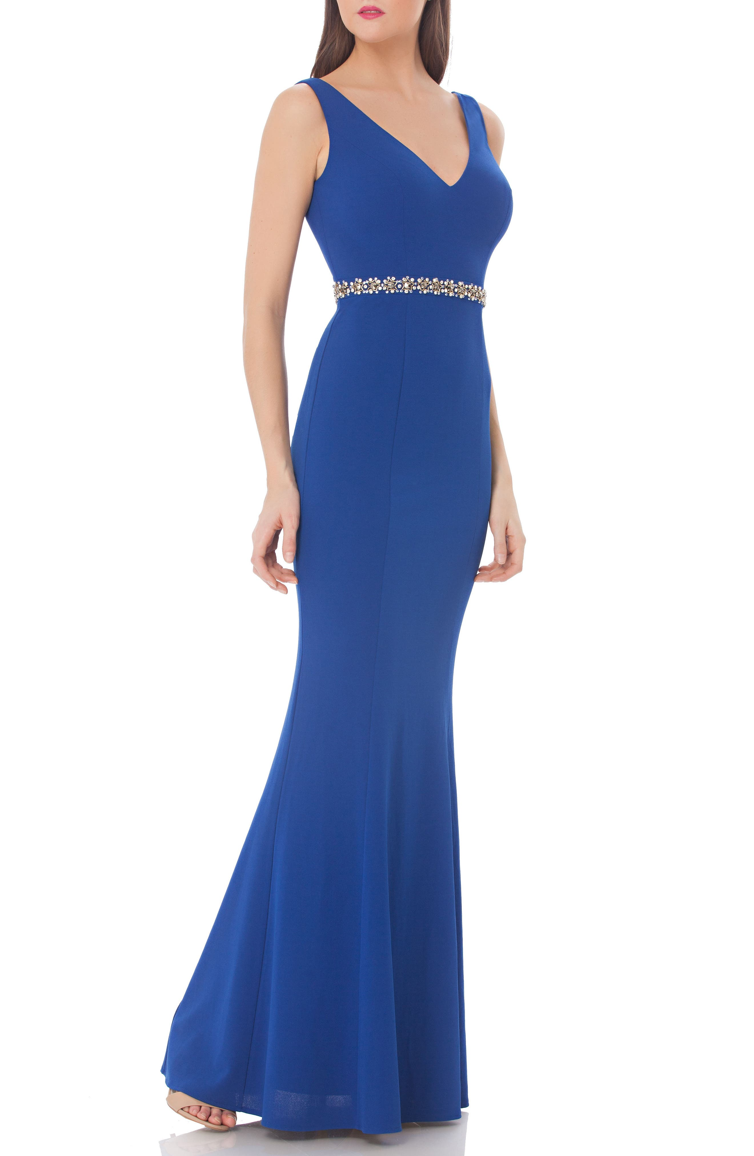 JS Collections Embellished Mermaid Gown