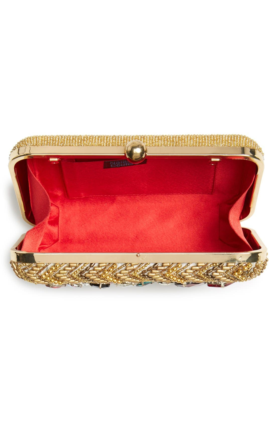 Alternate Image 3  - Natasha Couture 'Left Bank' Embellished Box Clutch
