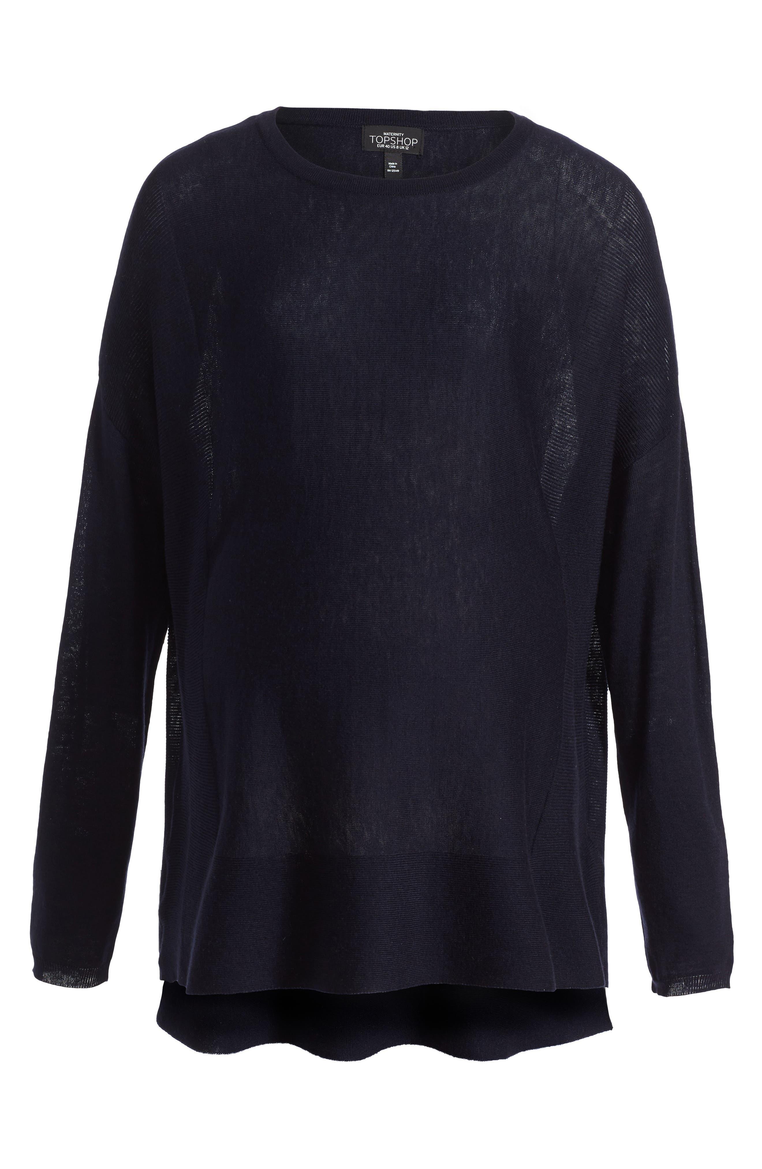 Alternate Image 1 Selected - Topshop Crewneck Maternity Sweater