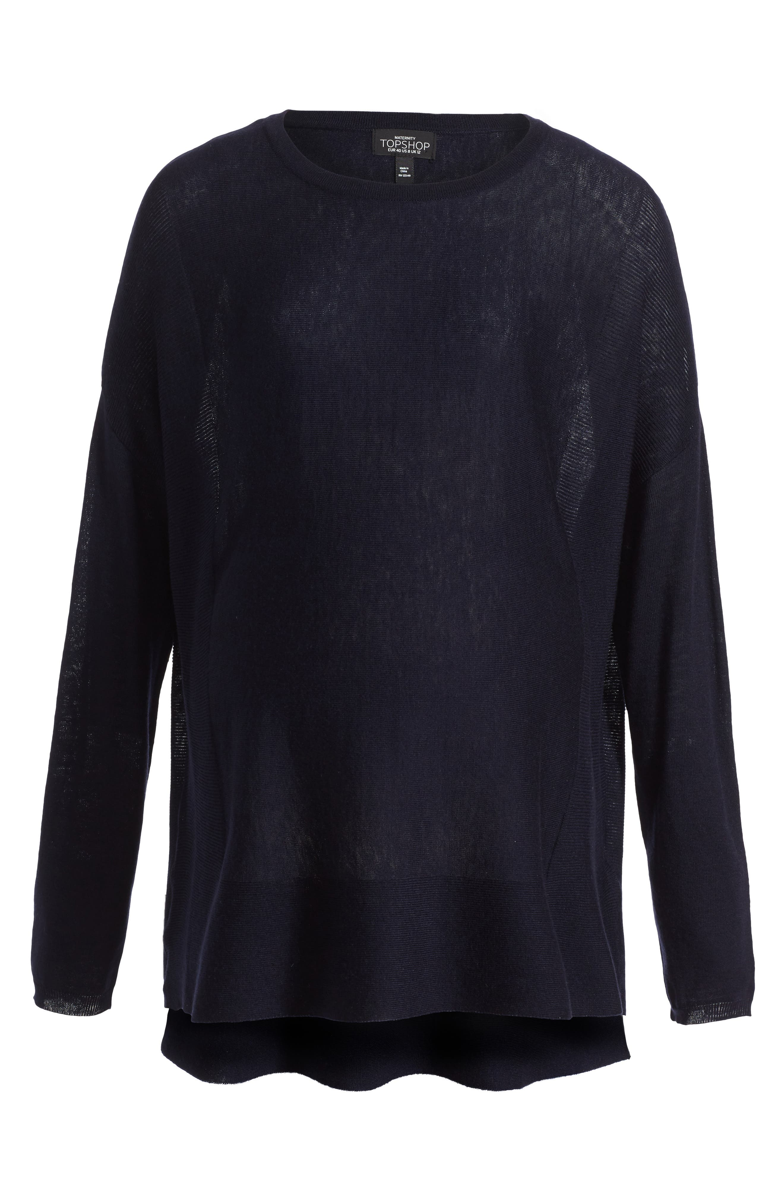 Main Image - Topshop Crewneck Maternity Sweater