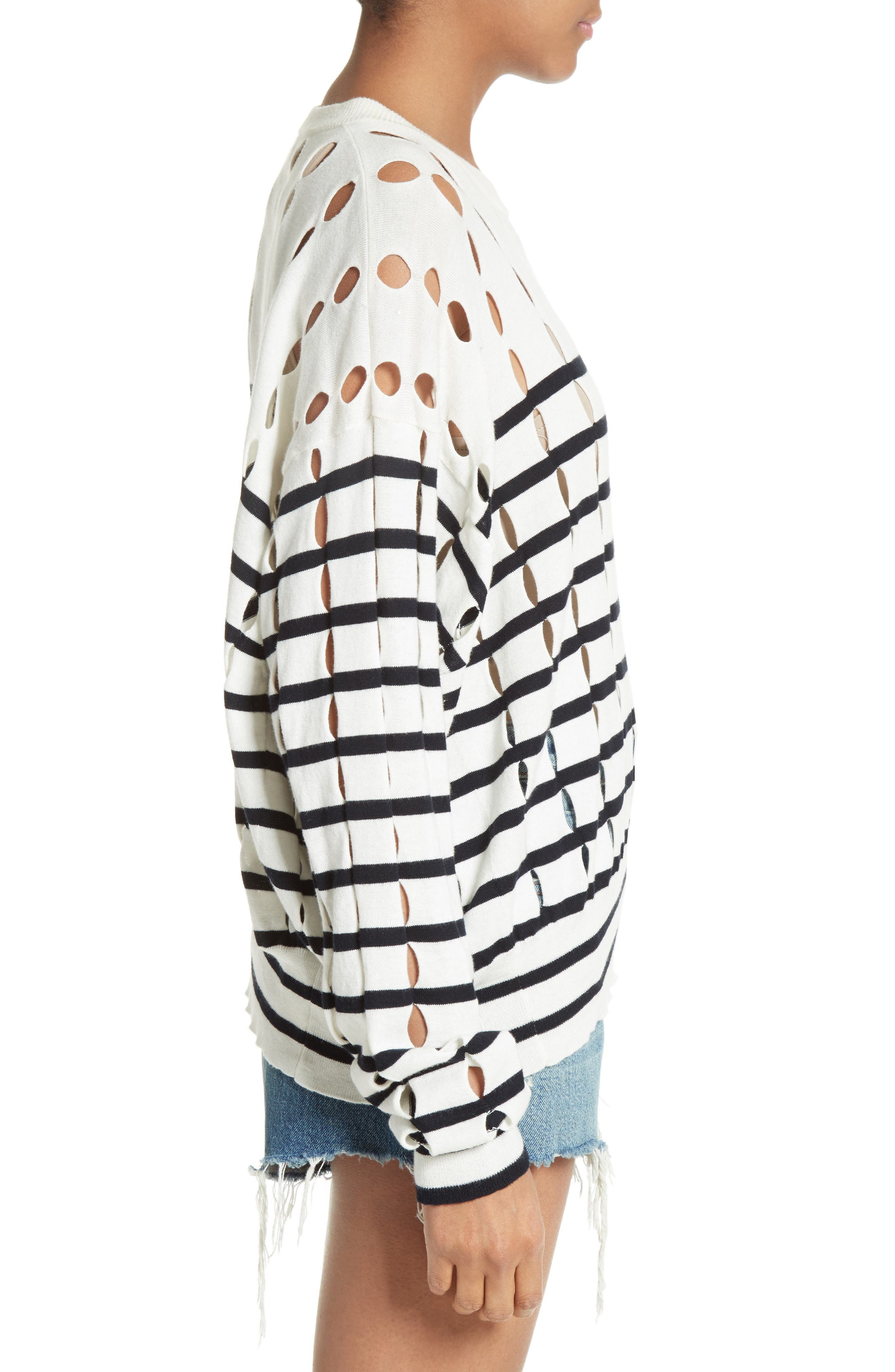 Alternate Image 3  - T by Alexander Wang Stripe Cotton Pullover