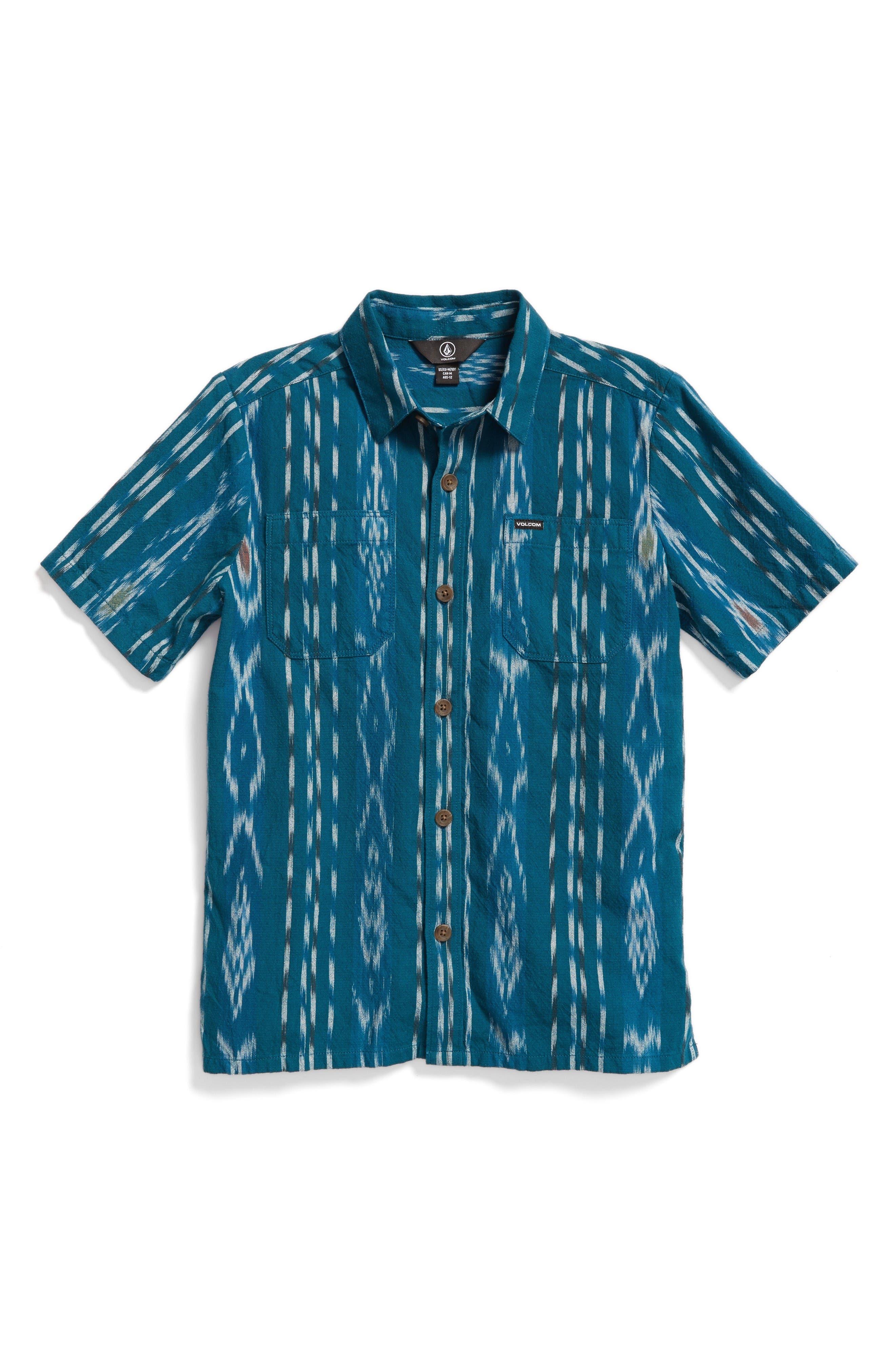 Volcom Slogan Print Woven Shirt (Big Boys)