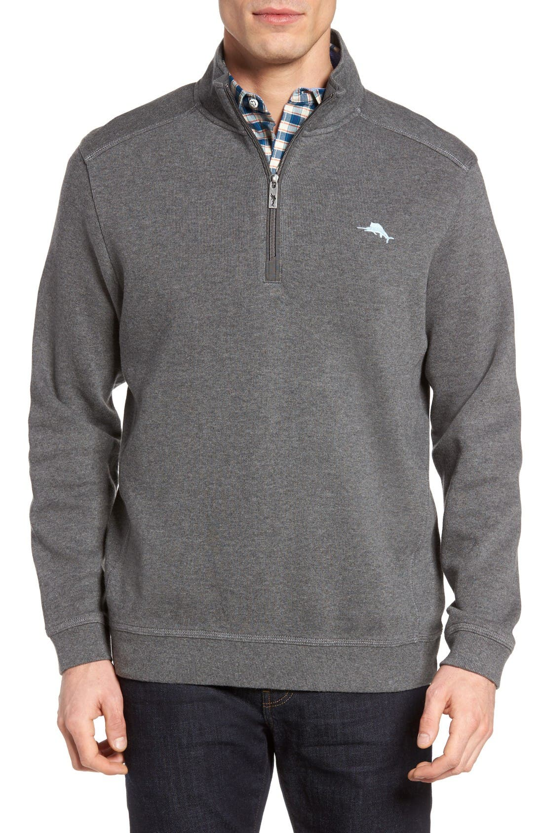 Tommy Bahama Nassau Quarter Zip Pullover (Big & Tall)