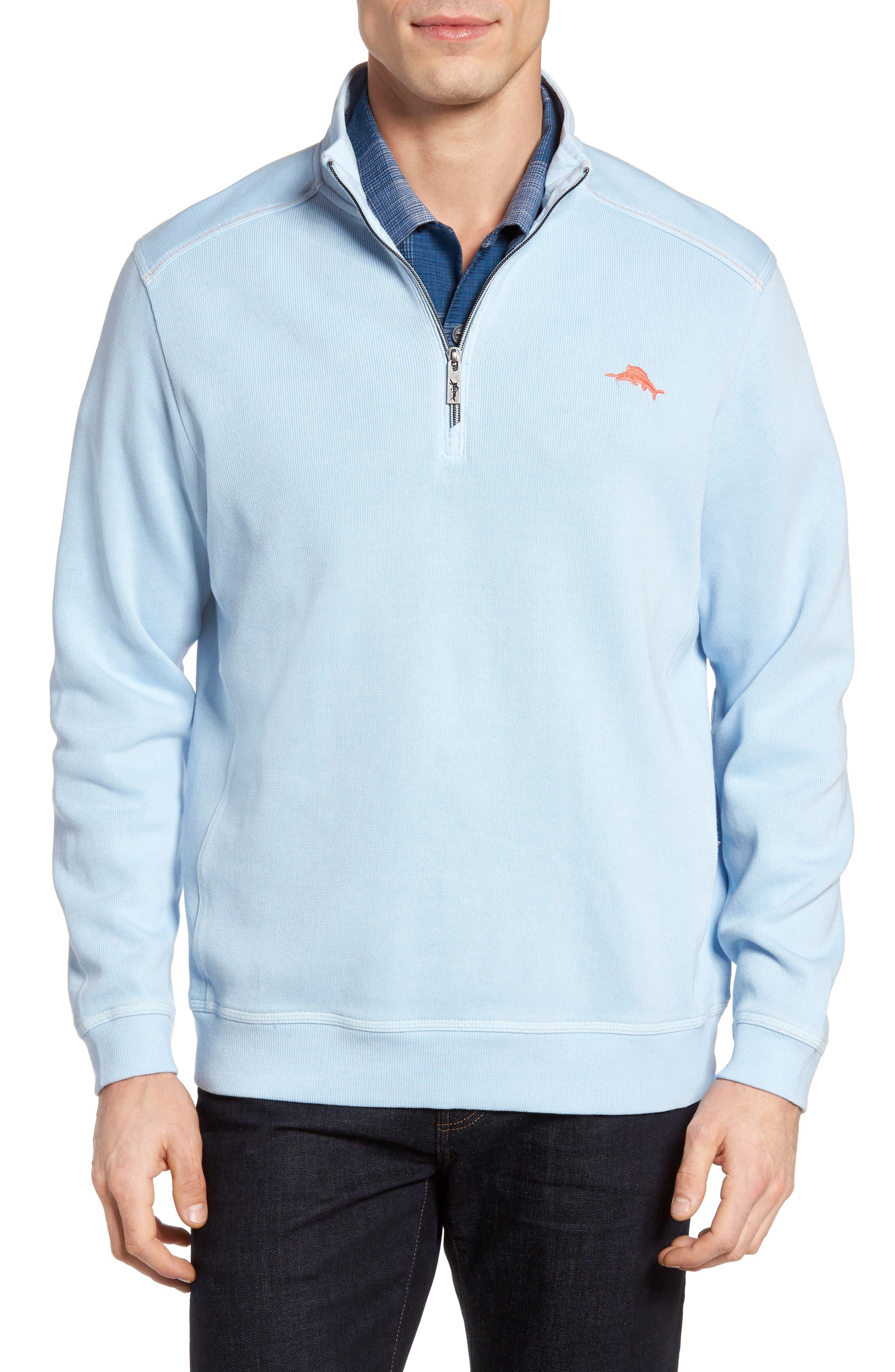 Tommy Bahama Nassau Quarter Zip Pullover (Big & Tall)