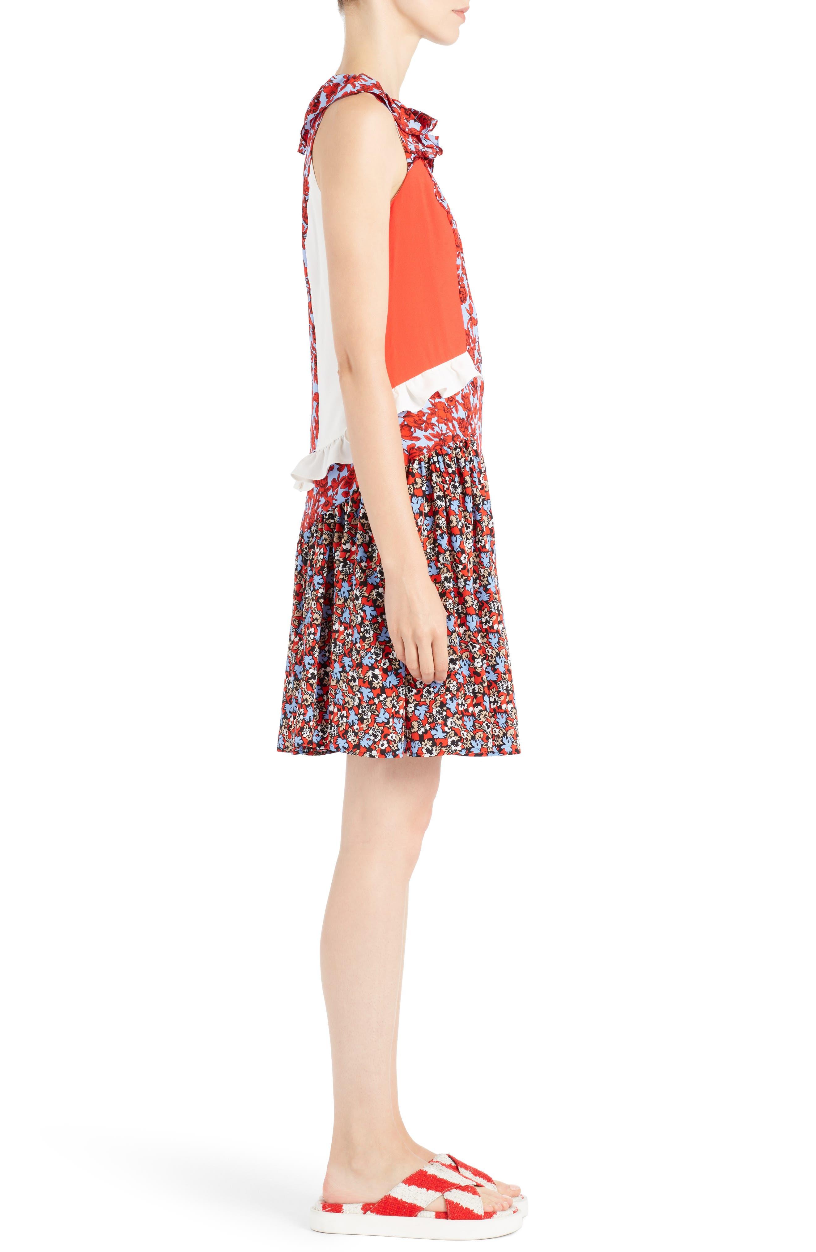 Alternate Image 3  - MSGM Floral Patchwork Silk Dress