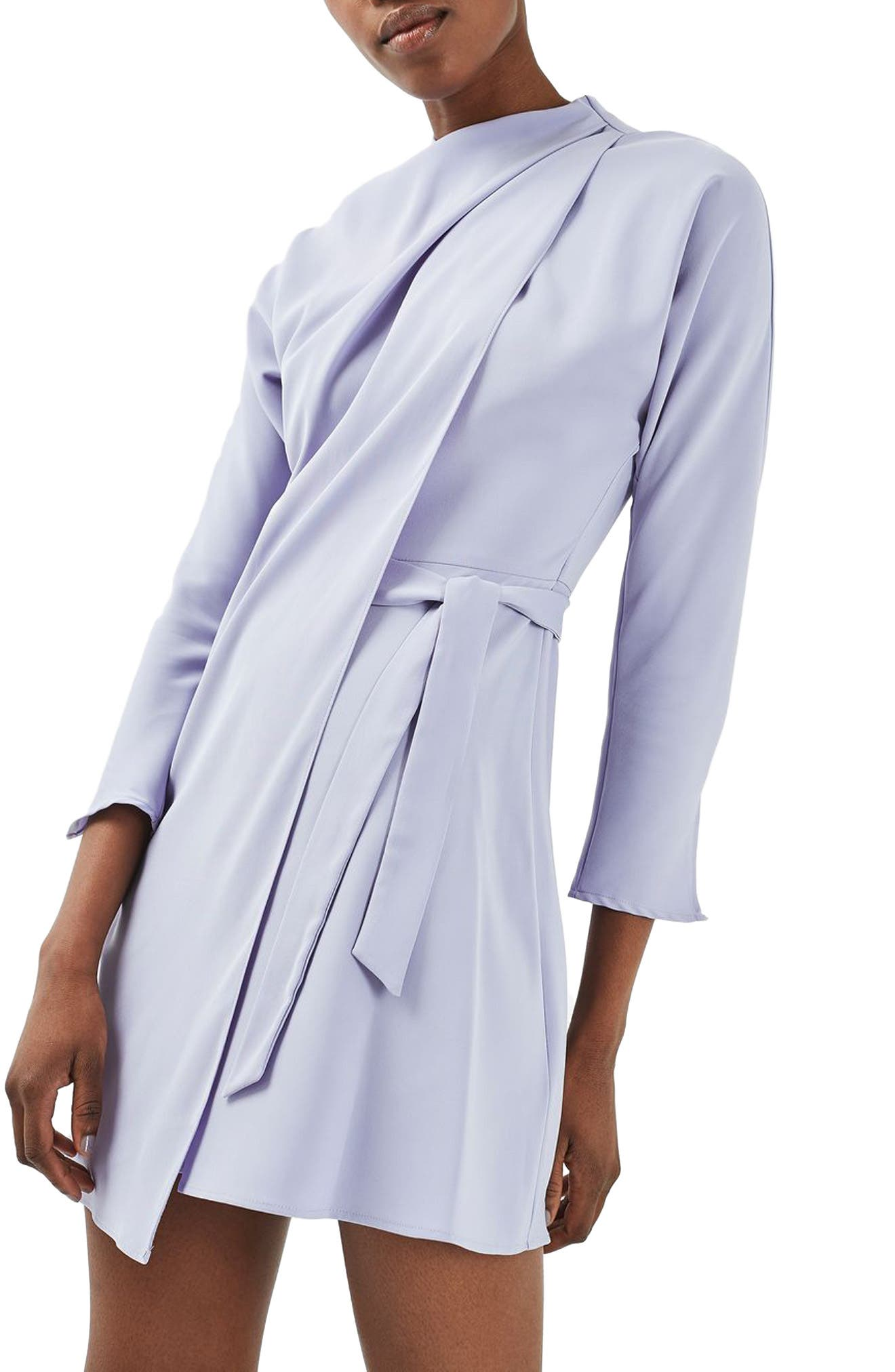Main Image - Topshop Drape Neck Dress