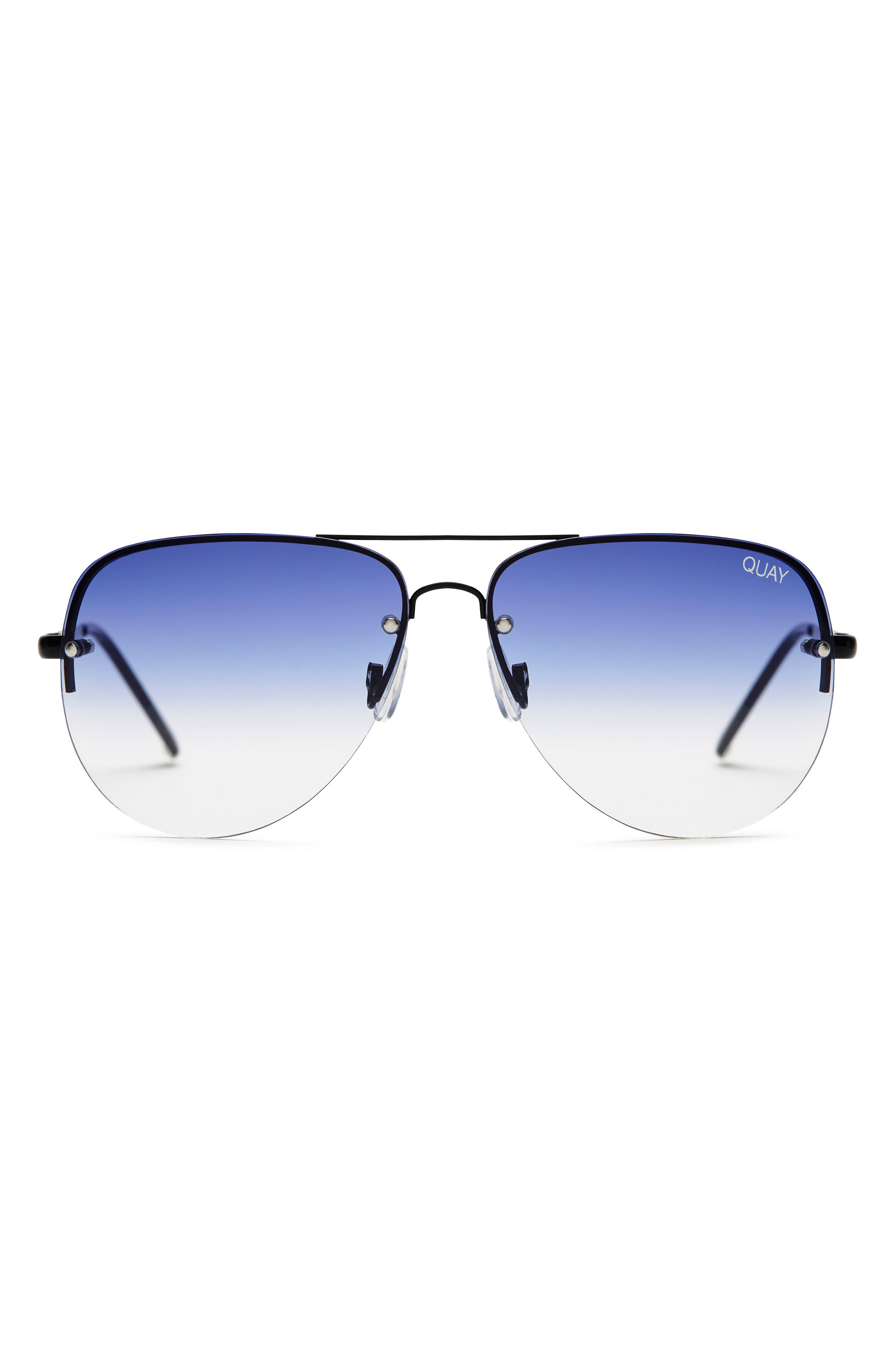 Alternate Image 1 Selected - Quay Australia Muse Fade 62mm Aviator Sunglasses