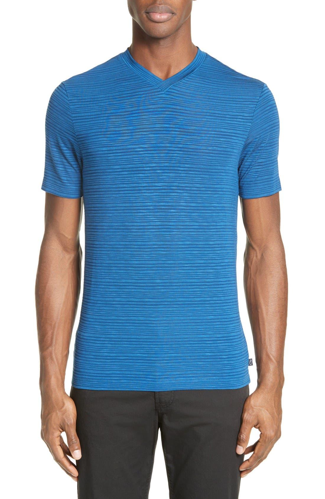 ARMANI COLLEZIONI Stripe V-Neck T-Shirt