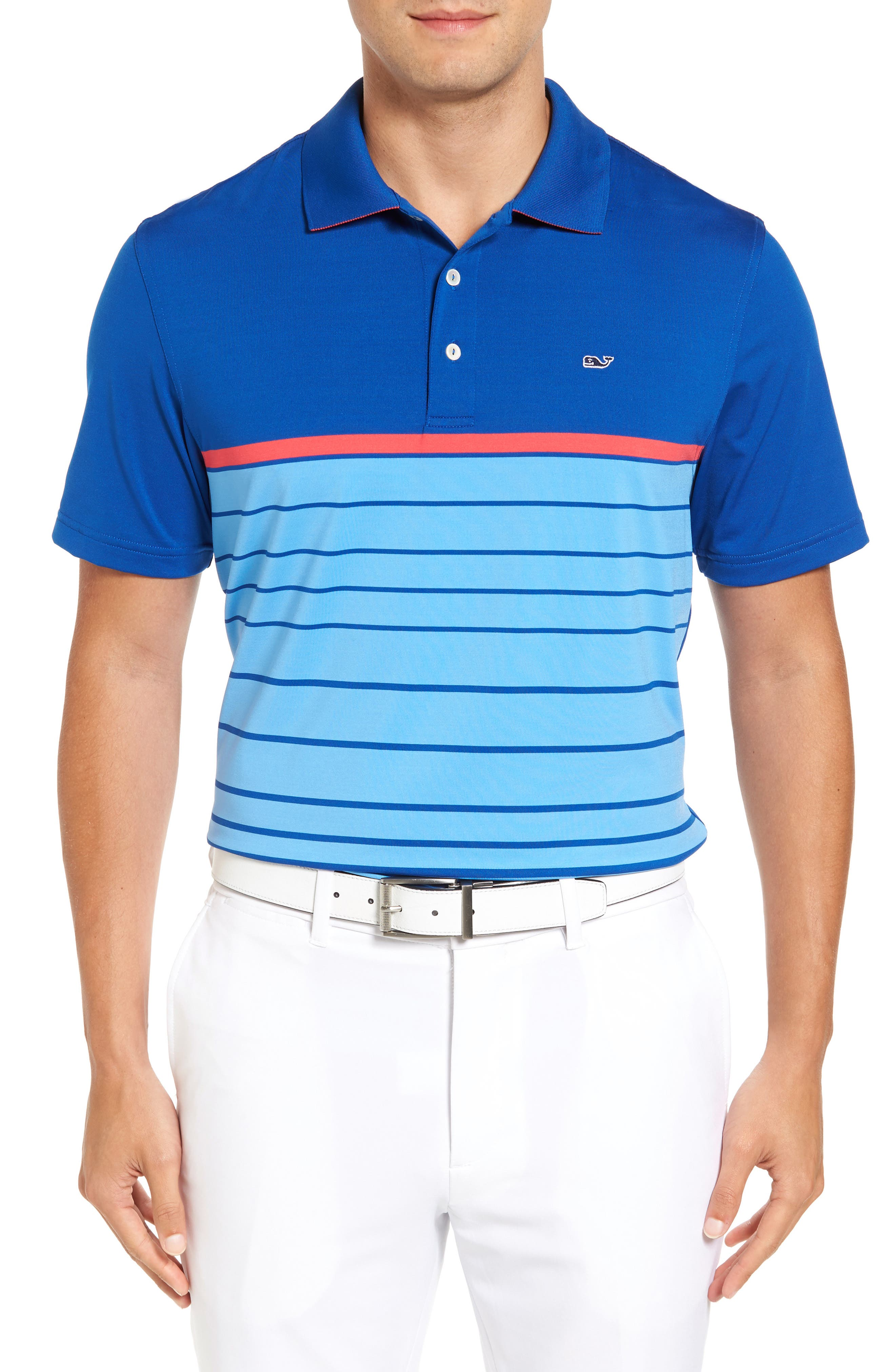 Vineyard Vines Bristol Stripe Regular Fit Performance Polo