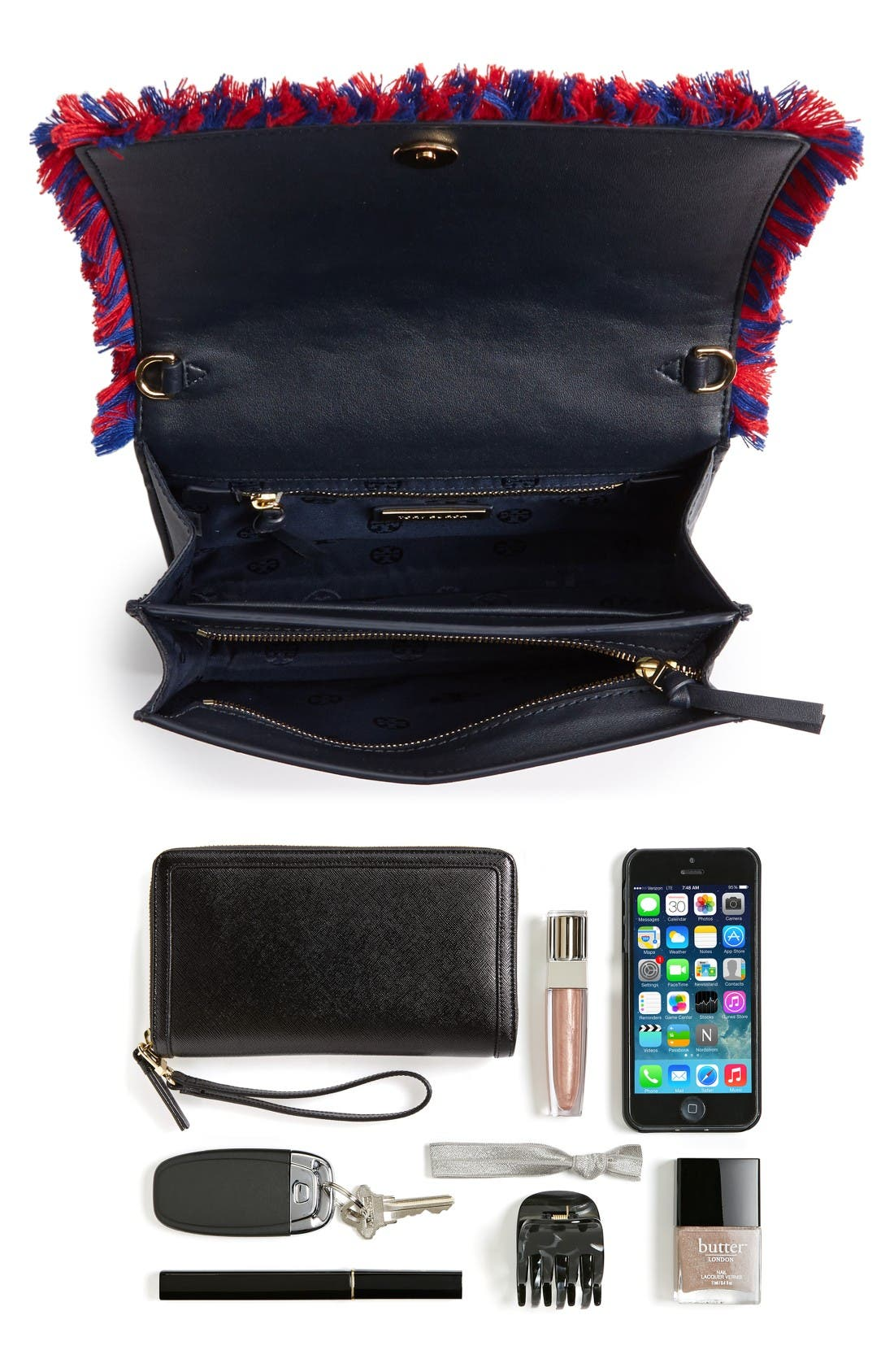 Alternate Image 6  - Tory Burch Embroidered Floral Crossbody Bag