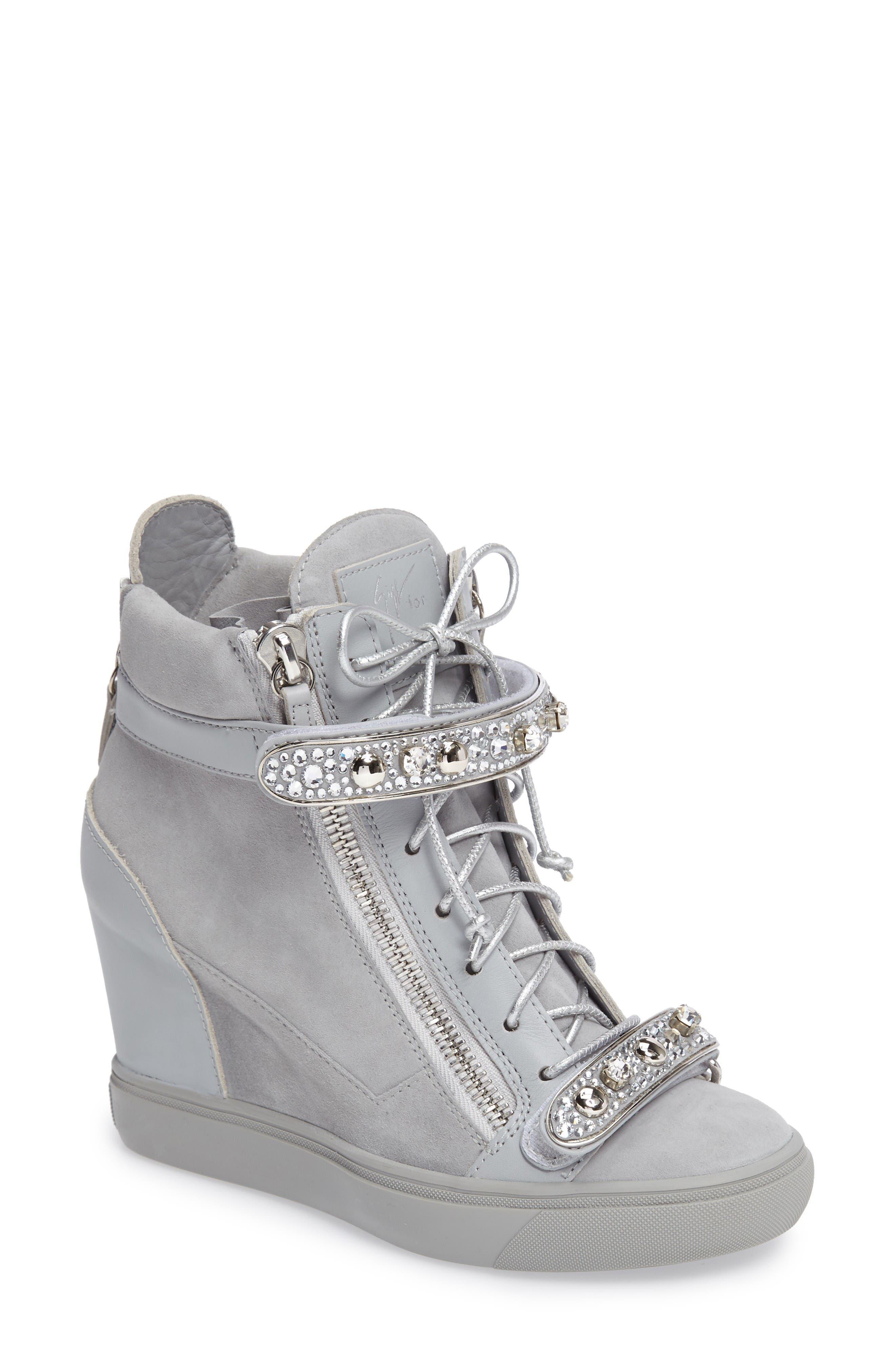 Giuseppe for Jennifer Lopez Tiana Hidden Wedge Sneaker (Women)