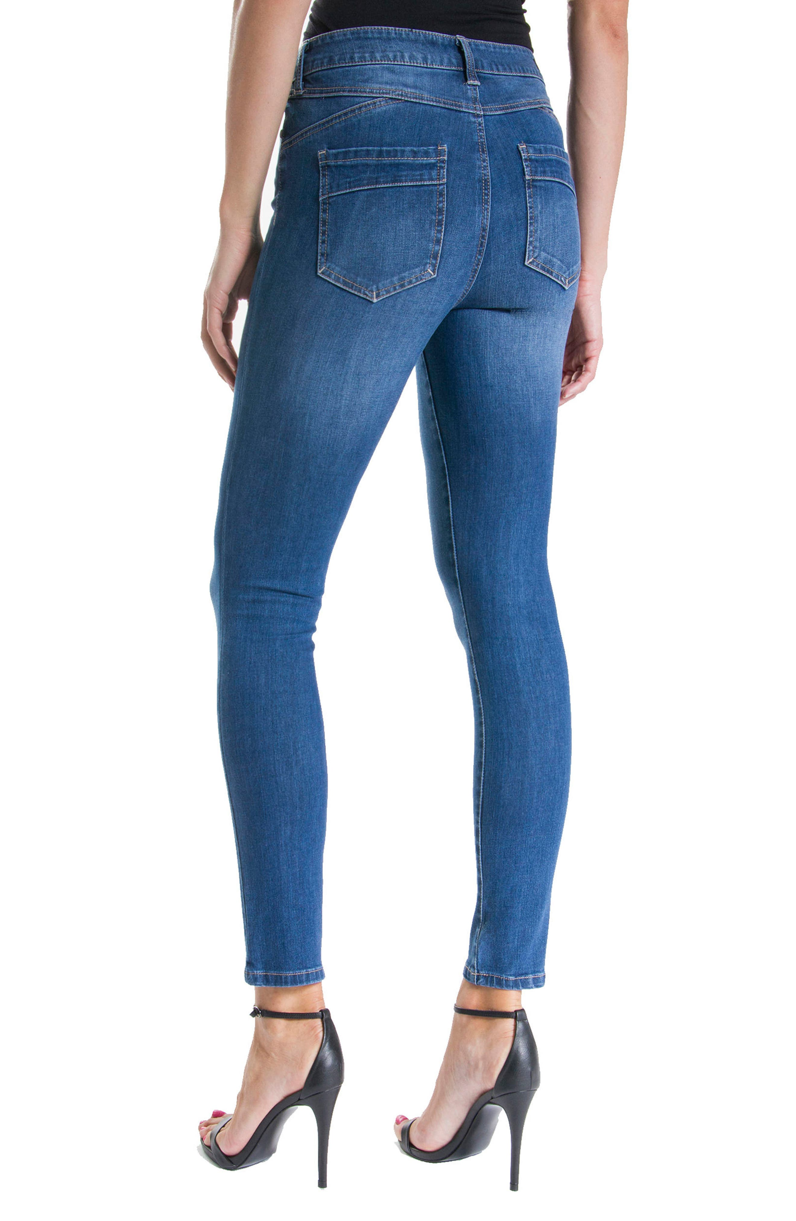 Alternate Image 3  - Liverpool Jeans Company Piper Hugger Lift Sculpt Ankle Skinny Jeans (Hydra)
