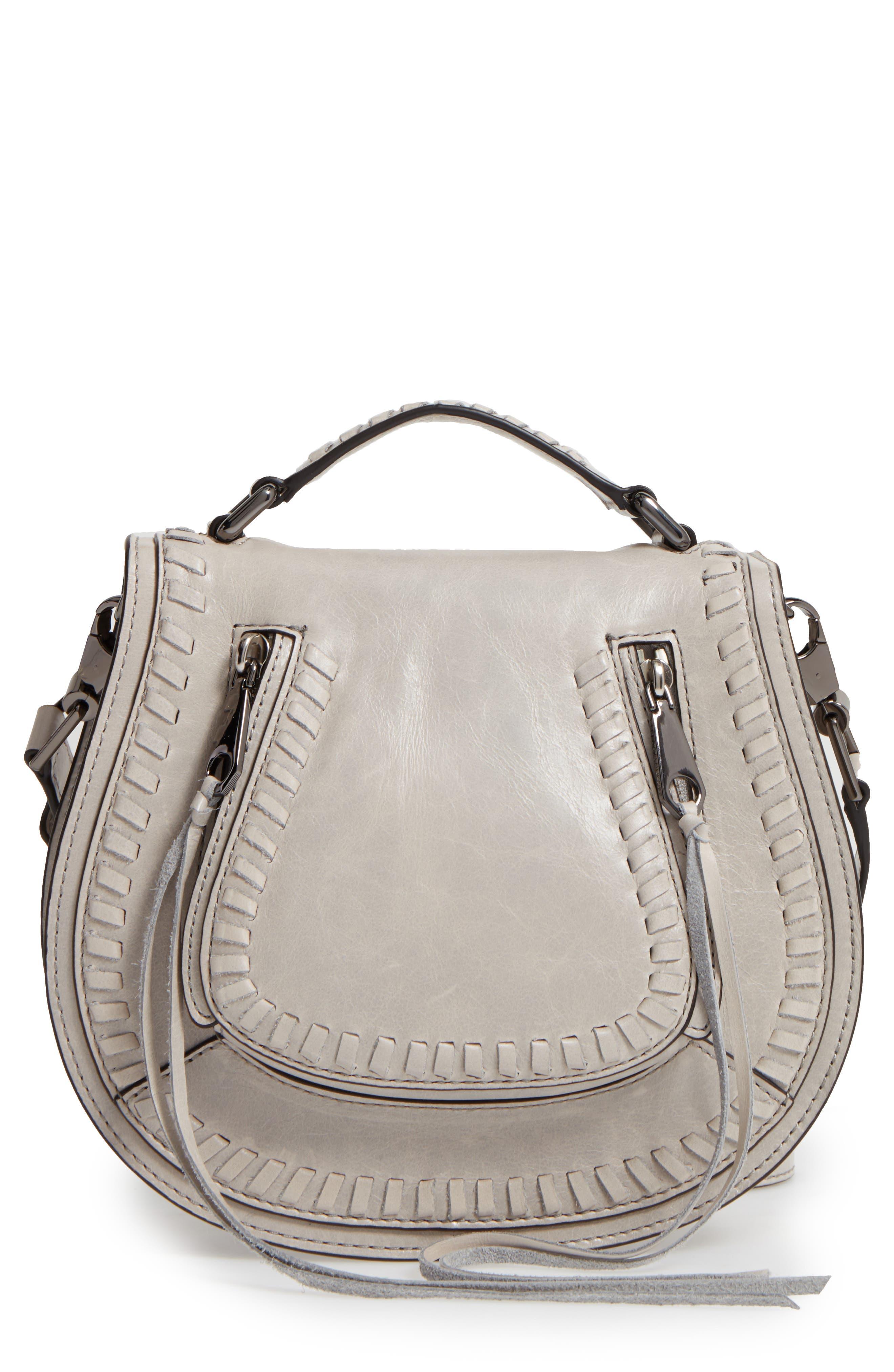 Main Image - Rebecca Minkoff Small Vanity Leather Saddle Bag