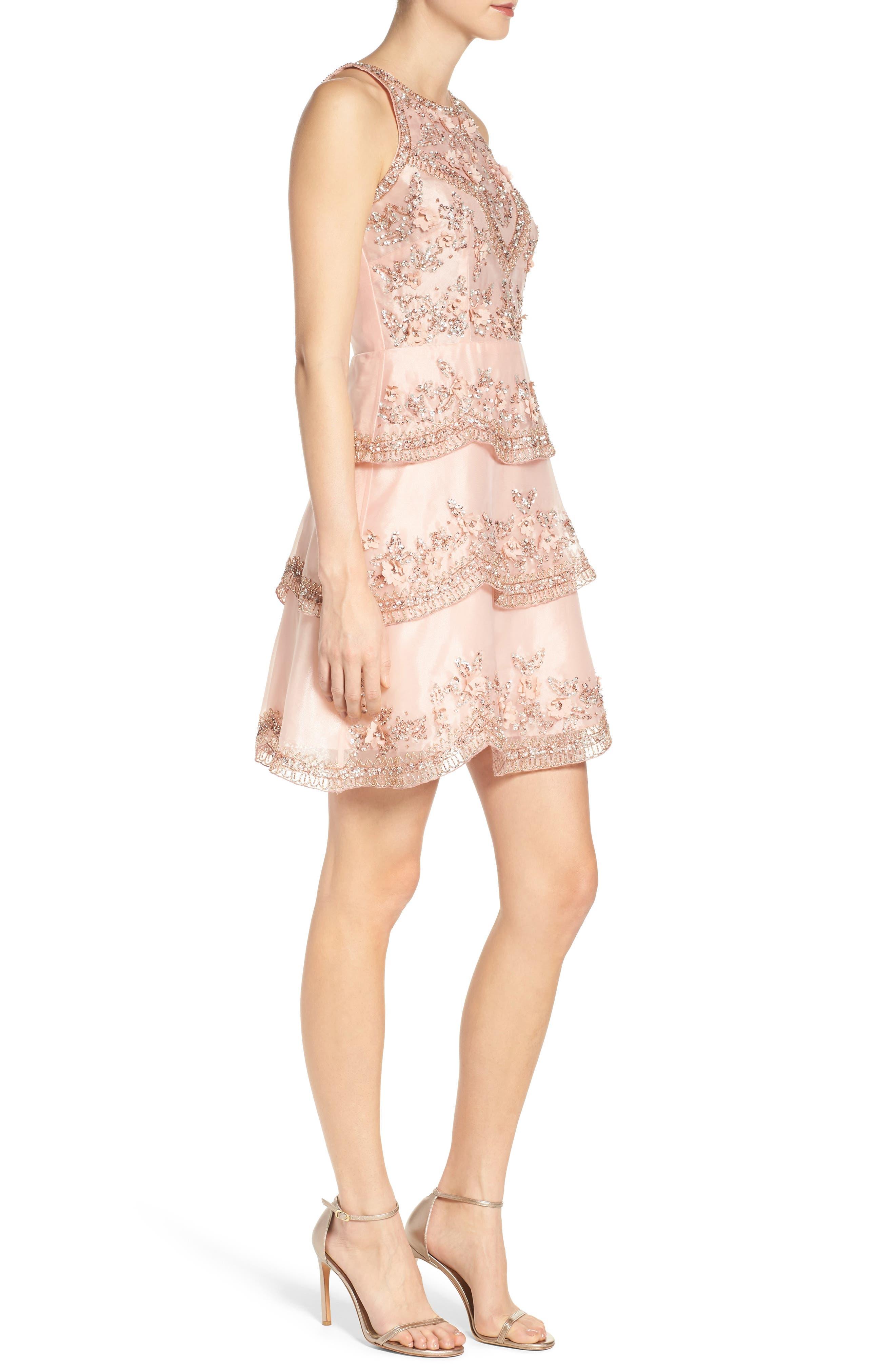 Alternate Image 3  - Adrianna Papell Scallop Dress