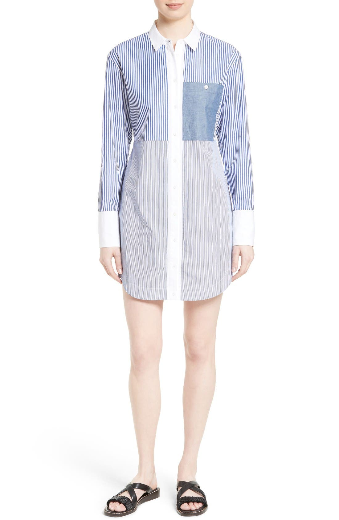 ELIZABETH AND JAMES Jay Stripe Shirtdress
