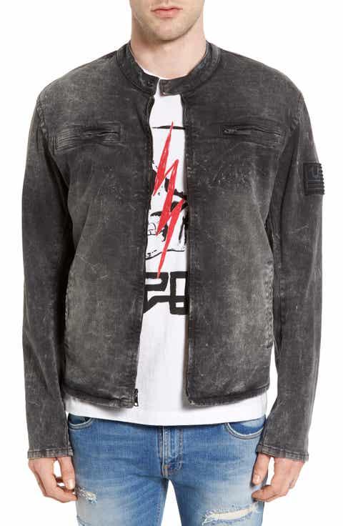True Religion Brand Jeans Denim Moto Jacket