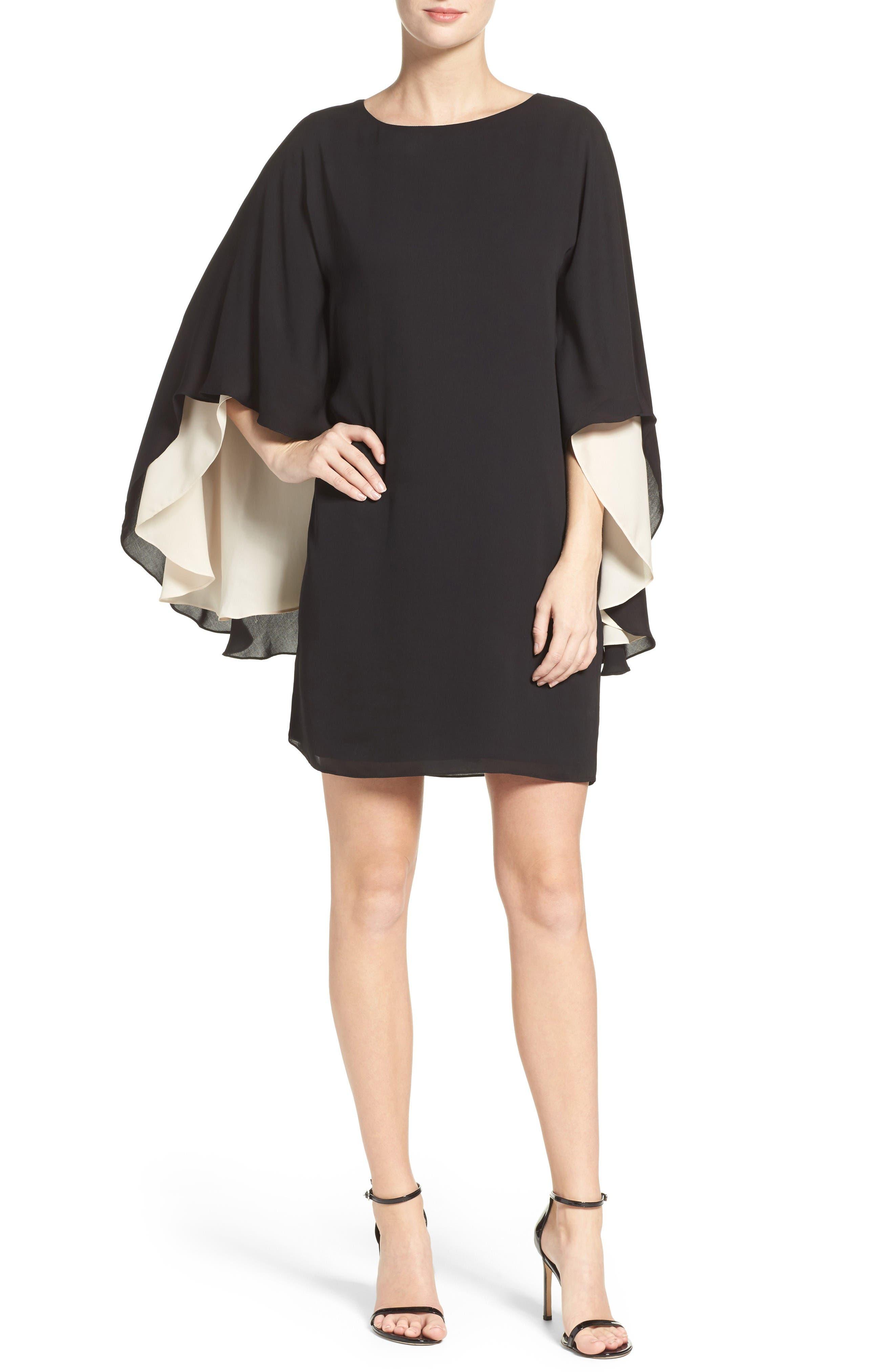 Alternate Image 4  - Halston Heritage Cape Sleeve Shift Dress